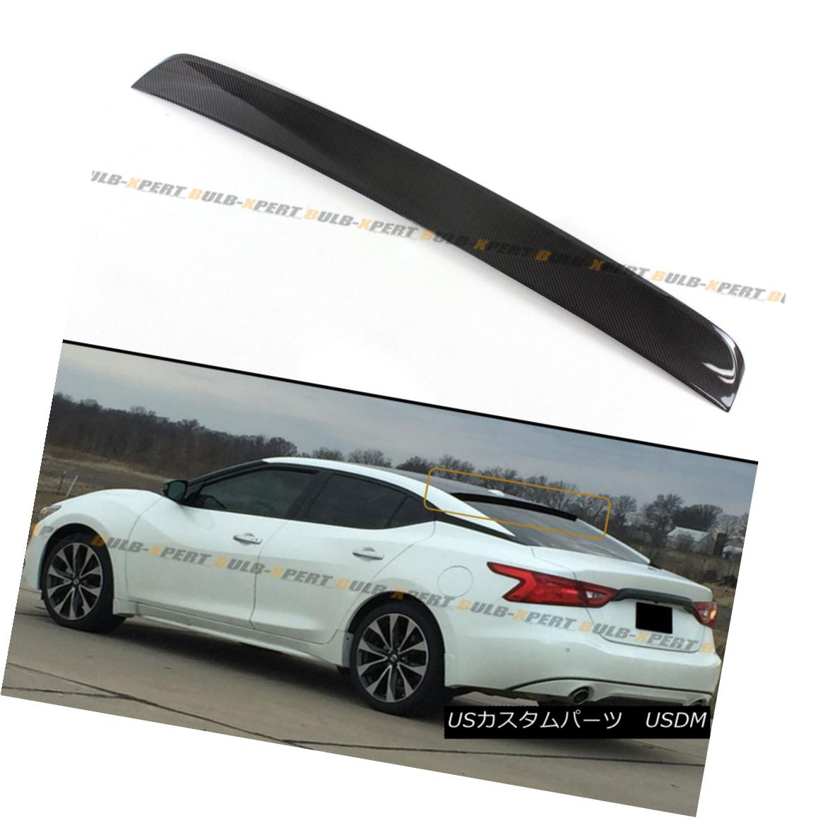 エアロパーツ FOR 2016-18 8TH NISSAN MAXIMA JDM CARBON FIBER REAR WINDOW ROOF SPOILER LID WING NISSAN MAXIMA JDM CARBON FIBER REAR WINDOW ROOF SPOILERライドウイング