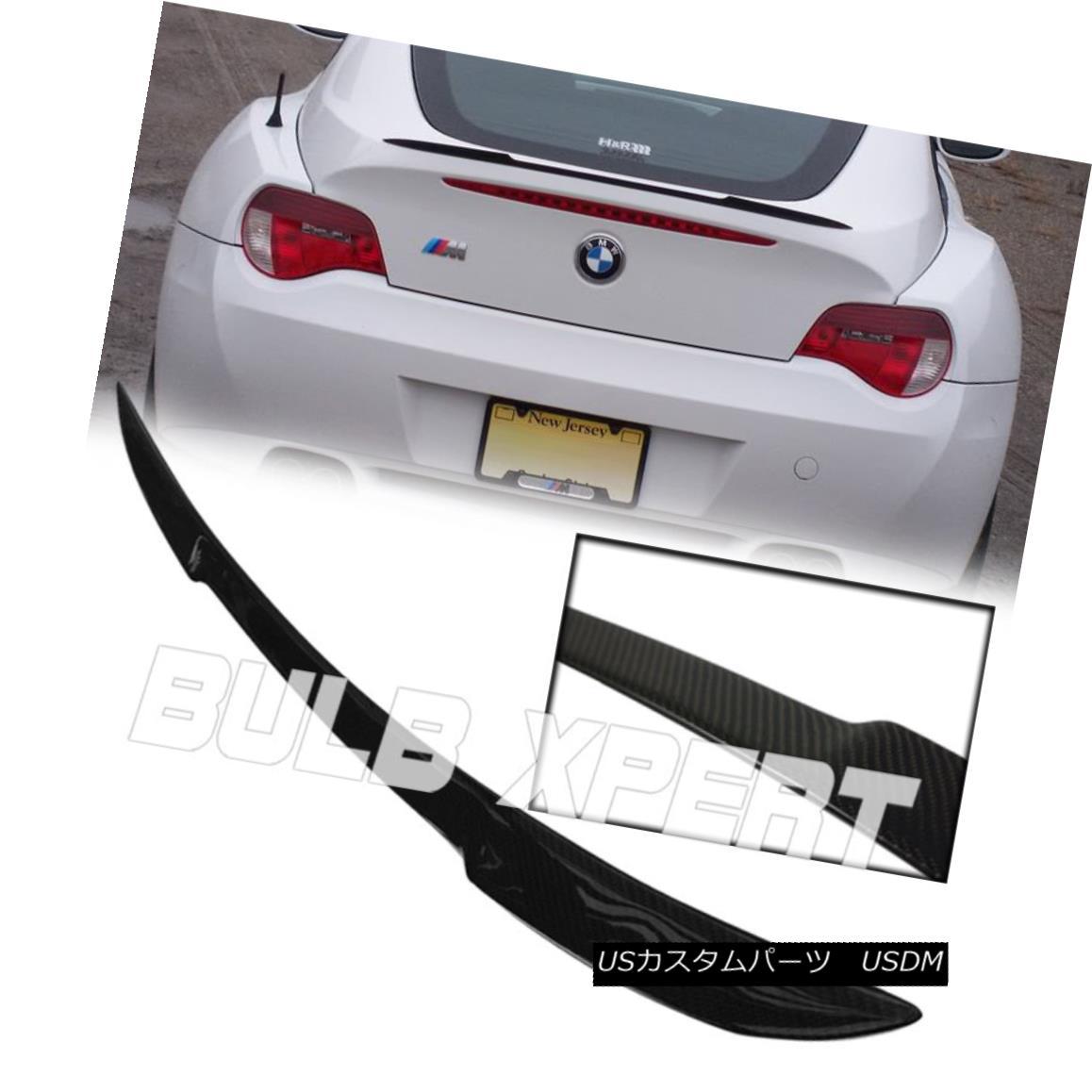 エアロパーツ FLUSH FIT REAL DRY CARBON FIBER TRUNK LID SPOILER WING FOR BMW Z4 COUPE Z4M E86 フラットフィットリアルドライカーボンファイバートランクリッドスポイラーウイングfor BMW Z4 COUPE Z4M E86