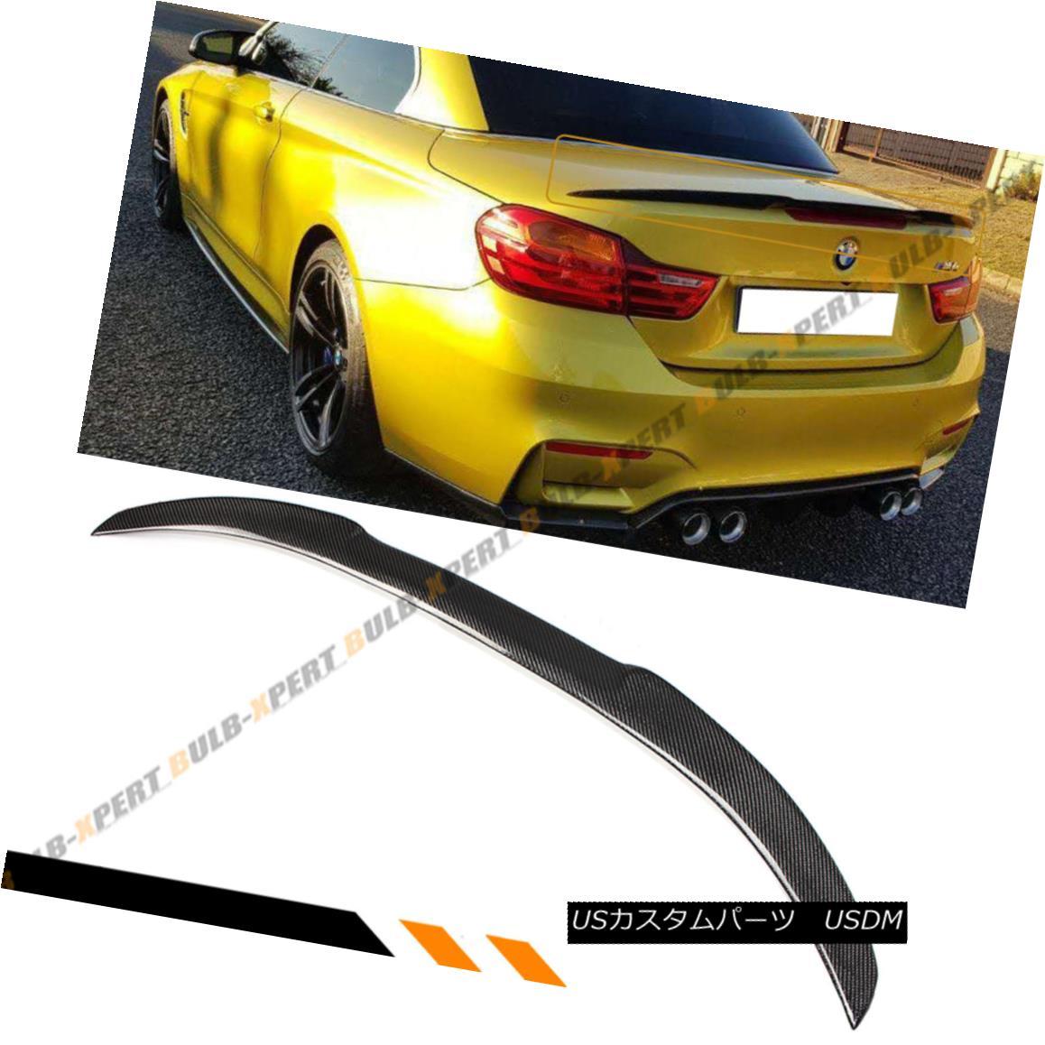 エアロパーツ FOR 2014-18 BMW F33 CONVERTIBLE COUPE CARBON FIBER TRUNK SPOILER WING- M4 STYLE BMW F33コンバチブルクーペカーボンファイバートランクスポイラーウイング - M4スタイル用