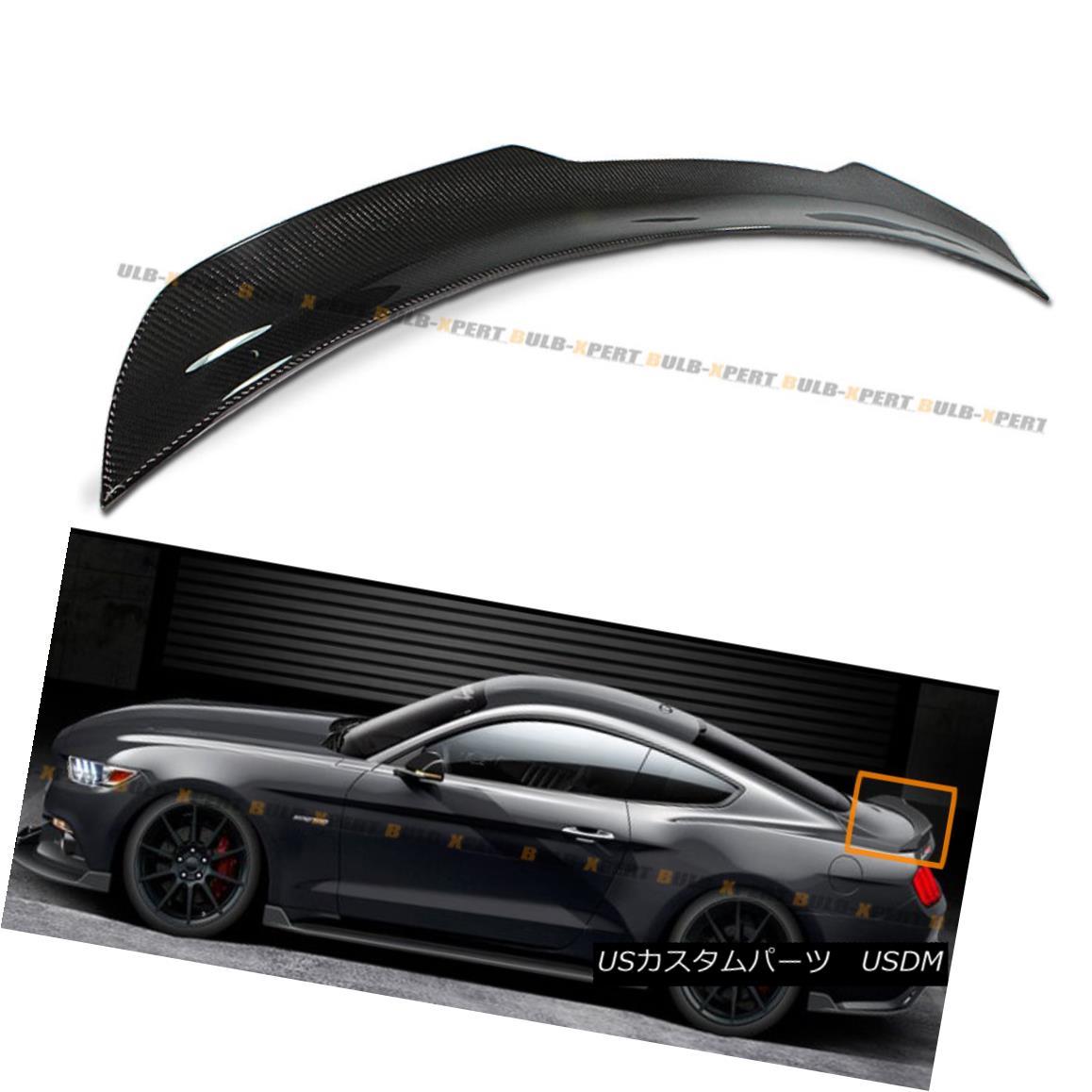 エアロパーツ For 2015-2017 Ford Mustang GT H Style Carbon Fiber Rear Trunk Spoiler Wing Lid 2015-2017フォードマスタングGT Hスタイルカーボンファイバーリアトランクスポイラーウイングリッド