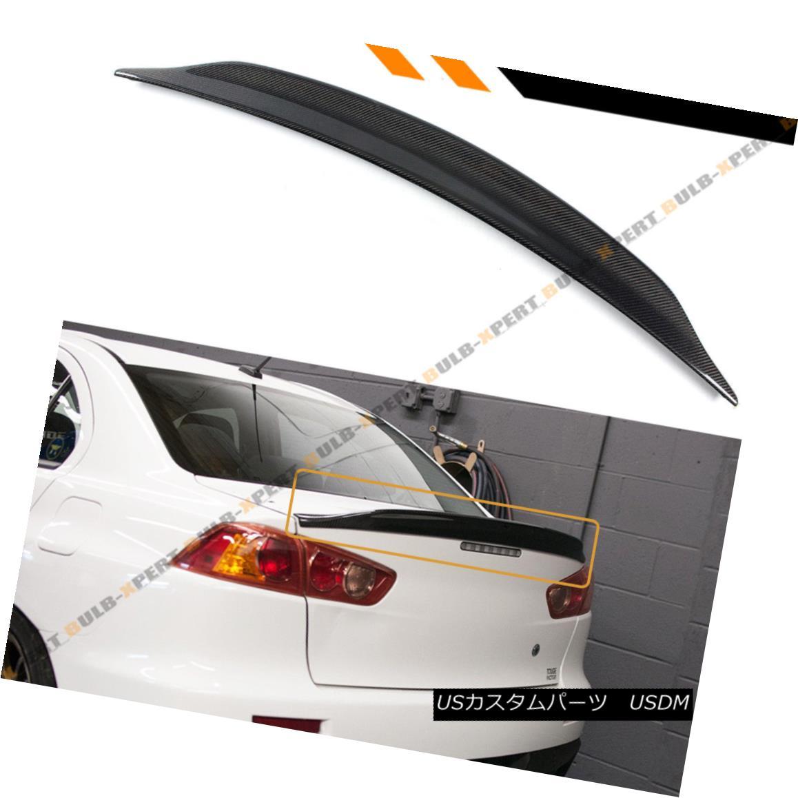 エアロパーツ For 08-17 Mitsubishi Lancer EVO 10 Duckbill Highkick Carbon Fiber Trunk Spoiler 08-17三菱ランサーEVO 10 Duckbill Highkickカーボンファイバートランク・スポイラー