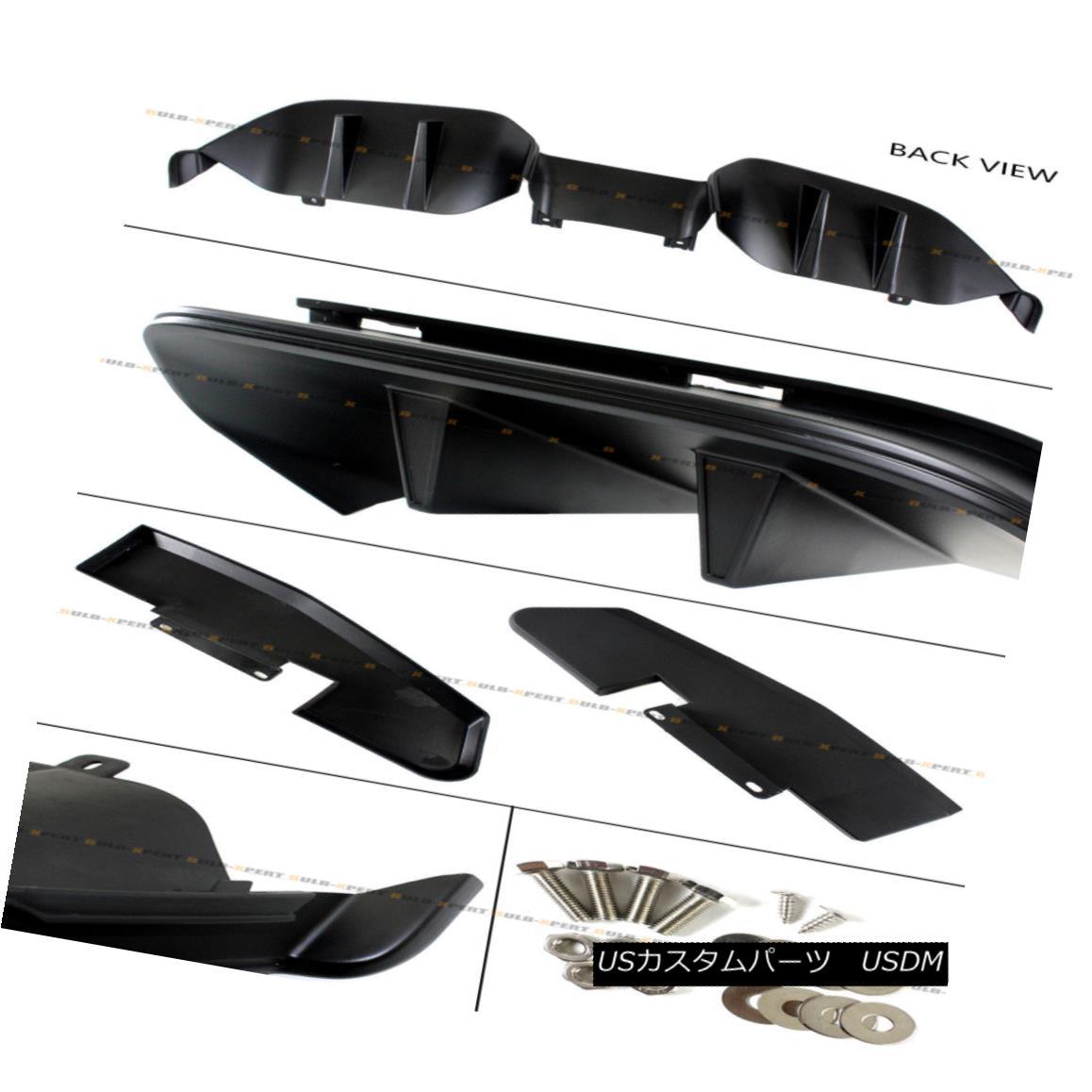 Fit Talon Bolt On Carbon Fiber Texture Matte Finish ABS Rear Bumper Diffuser