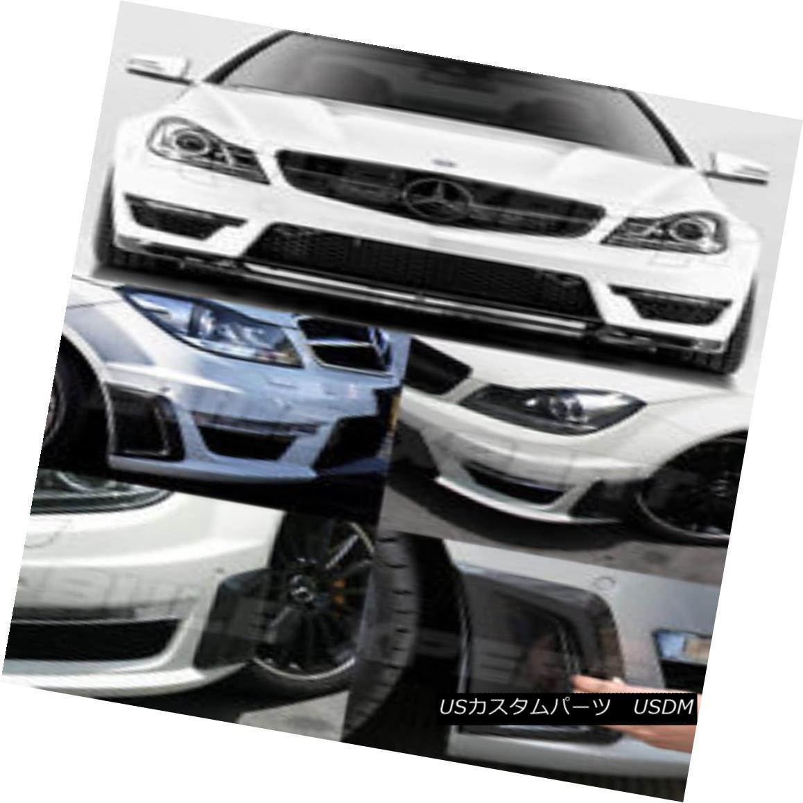 エアロパーツ FOR 2012-2014 MERCEDEZ BENZ W204 C63 CARBON FIBER FRONT BUMPER SIDE VENT COVER 2012年?2014年メルセデスベンツW204 C63カーボンファイバーフロントバンパーサイドベントカバー