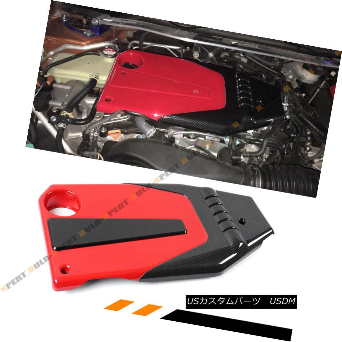 エアロパーツ FOR 2016-18 10TH GEN HONDA CIVIC JDM RED BLACK TYPE-R STYLE ENGINE VALVE COVER 2016-18 10世紀ホンダシビックJDMレッドブラックタイプステーショナリーエンジンバルブカバー
