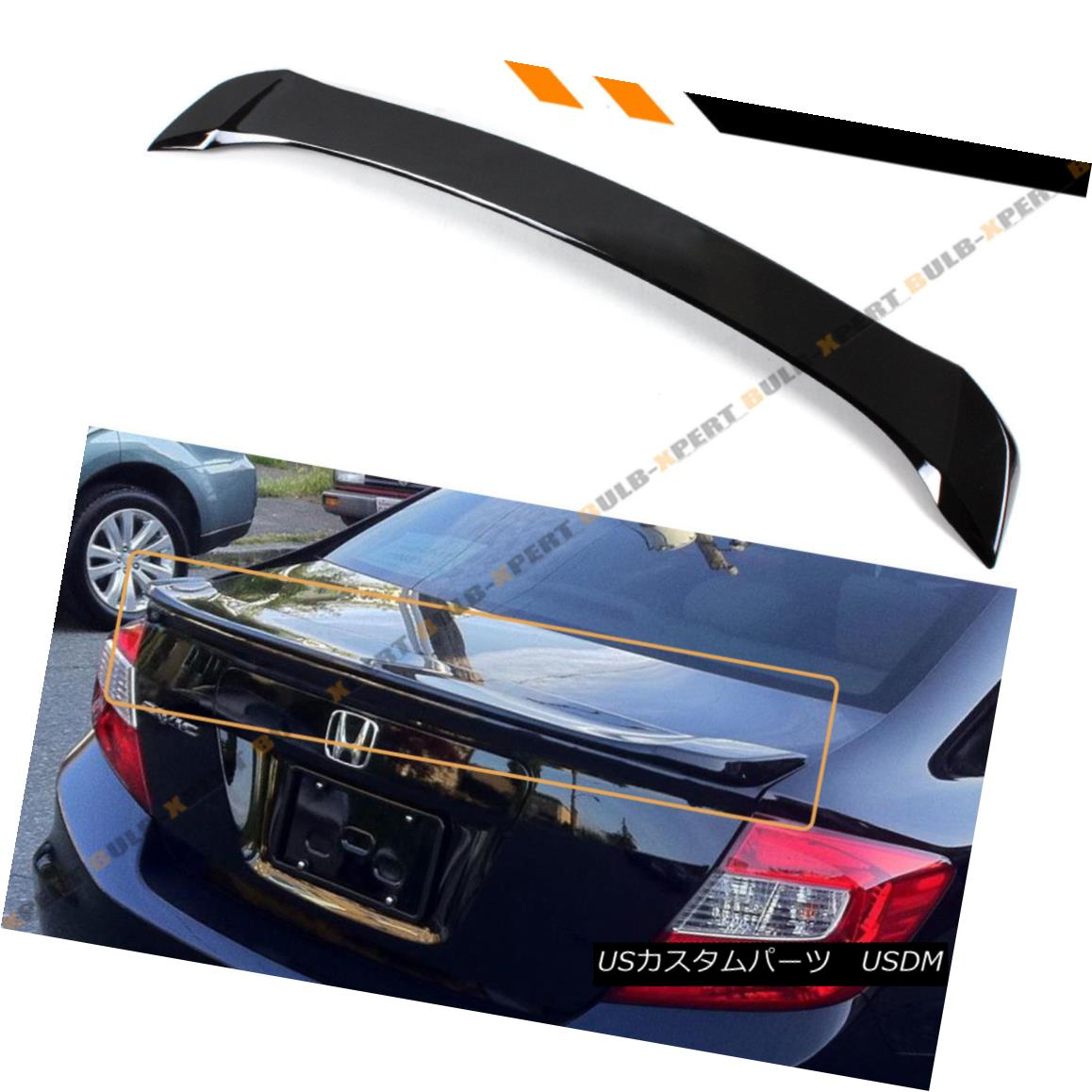 エアロパーツ FOR 2012-15 9TH GEN HONDA CIVIC SEDAN FB GLOSS PRE-PAINTED BLK TRUNK SPOILER LID 2012年9月15日第9世代ホンダセダンFBグラスプレイングBLK TRUNK SPOILER LID