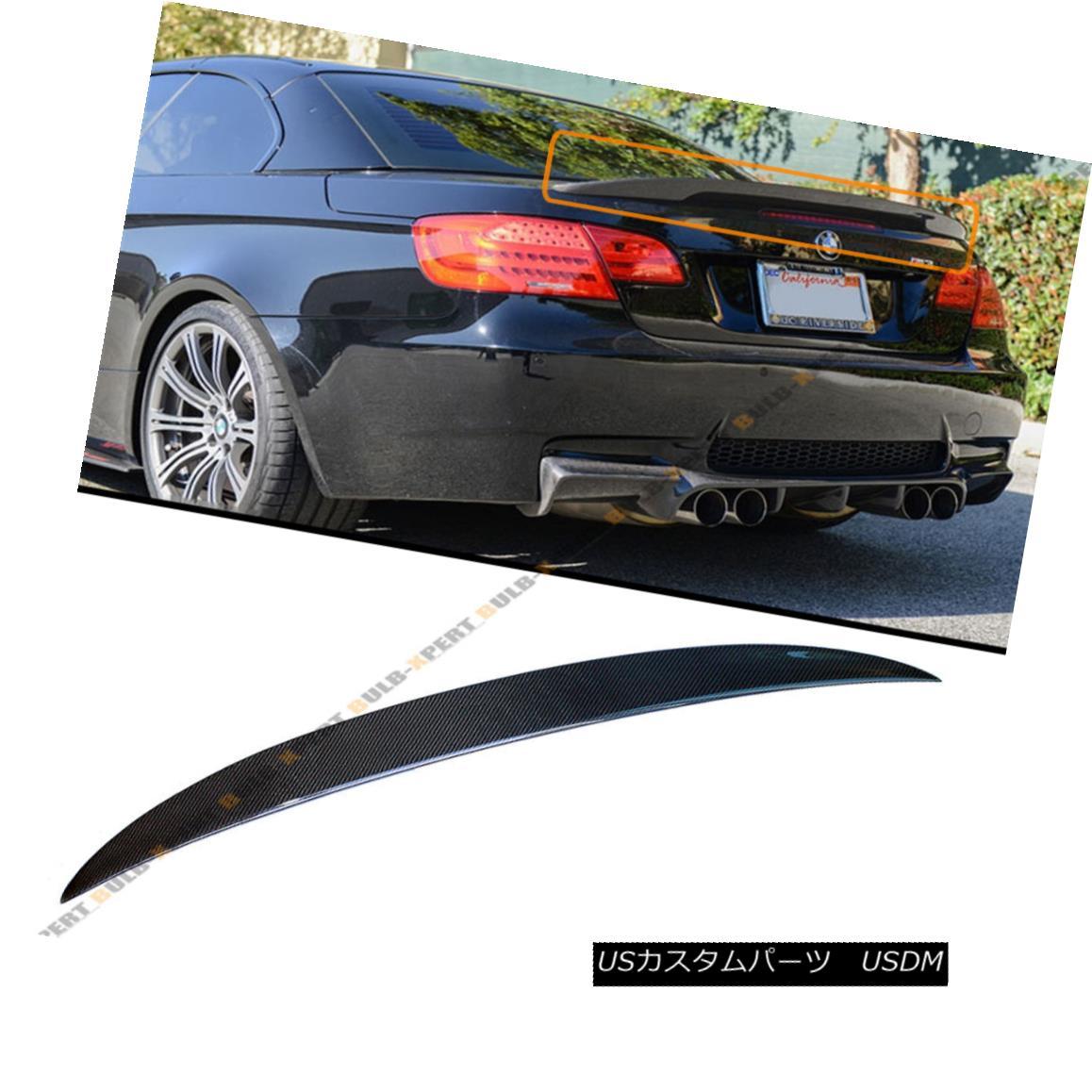 エアロパーツ FOR BMW E93 M3 2DOOR COUPE CONVERTIBLE HIGH KICK CARBON FIBER TRUNK SPOILER WING BMW E93 M3用ダブルロールカップルコンバチブルハイキックカーボンファイバートランクスポイラーウイング