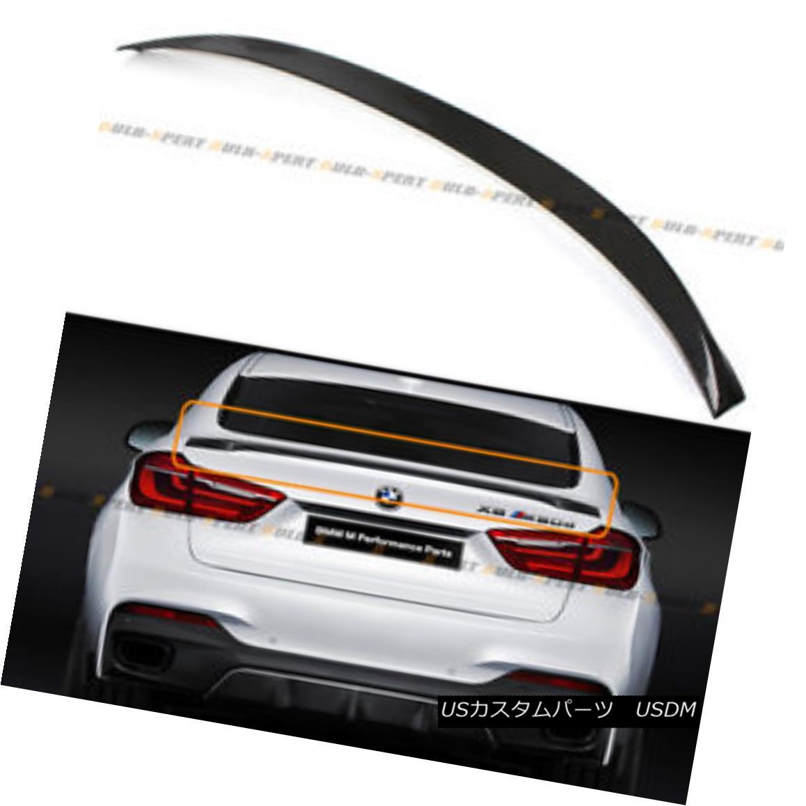 エアロパーツ For 2015-18 BMW F16 X6 F86 X6M Carbon Fiber Performance Style Trunk Spoiler Wing 2015-18 BMW F16 X6 F86 X6Mカーボンファイバーパフォーマンススタイルトランクスポイラーウィング
