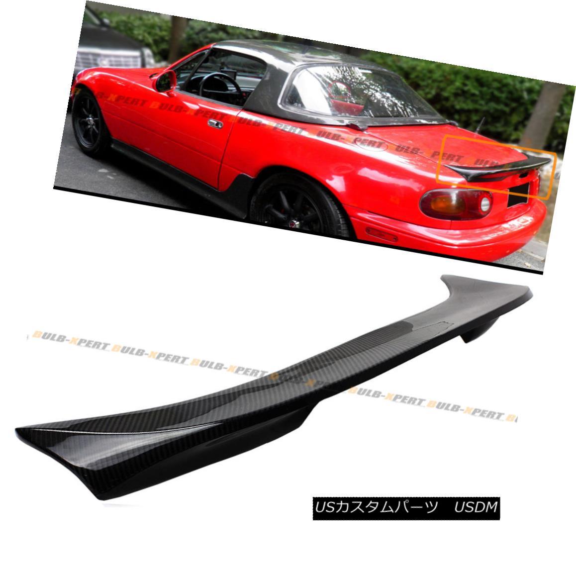 エアロパーツ For 1990-1997 Mazda Miata NA JDM Carbon Fiber Extended Big Trunk Spoiler Wing 1990-1997マツダ・ミアタNA JDMカーボンファイバー拡張ビッグ・トランク・スポイラー・ウィング