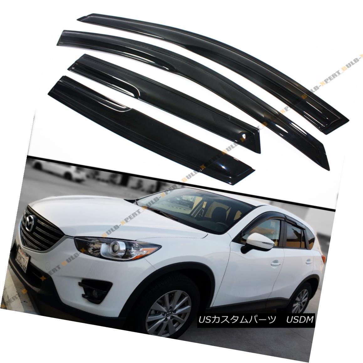 エアロパーツ FOR 2013-2016 MAZDA CX5 CX-5 SUV WAVY 3D SMOKE TINT WINDOW SUN RAIN GUARD VISOR 2013-2016 MAZDA CX5 CX-5 SUV WAVE 3D SMOKE TINT WINDOW SUN RAIN GUARD VISOR