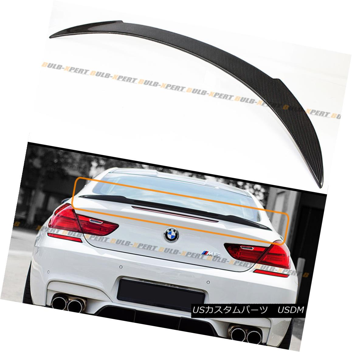 Carbon Fibre V Style Boot Trunk Spoiler Wing for BMW 6-Series F06 Gran Coupe