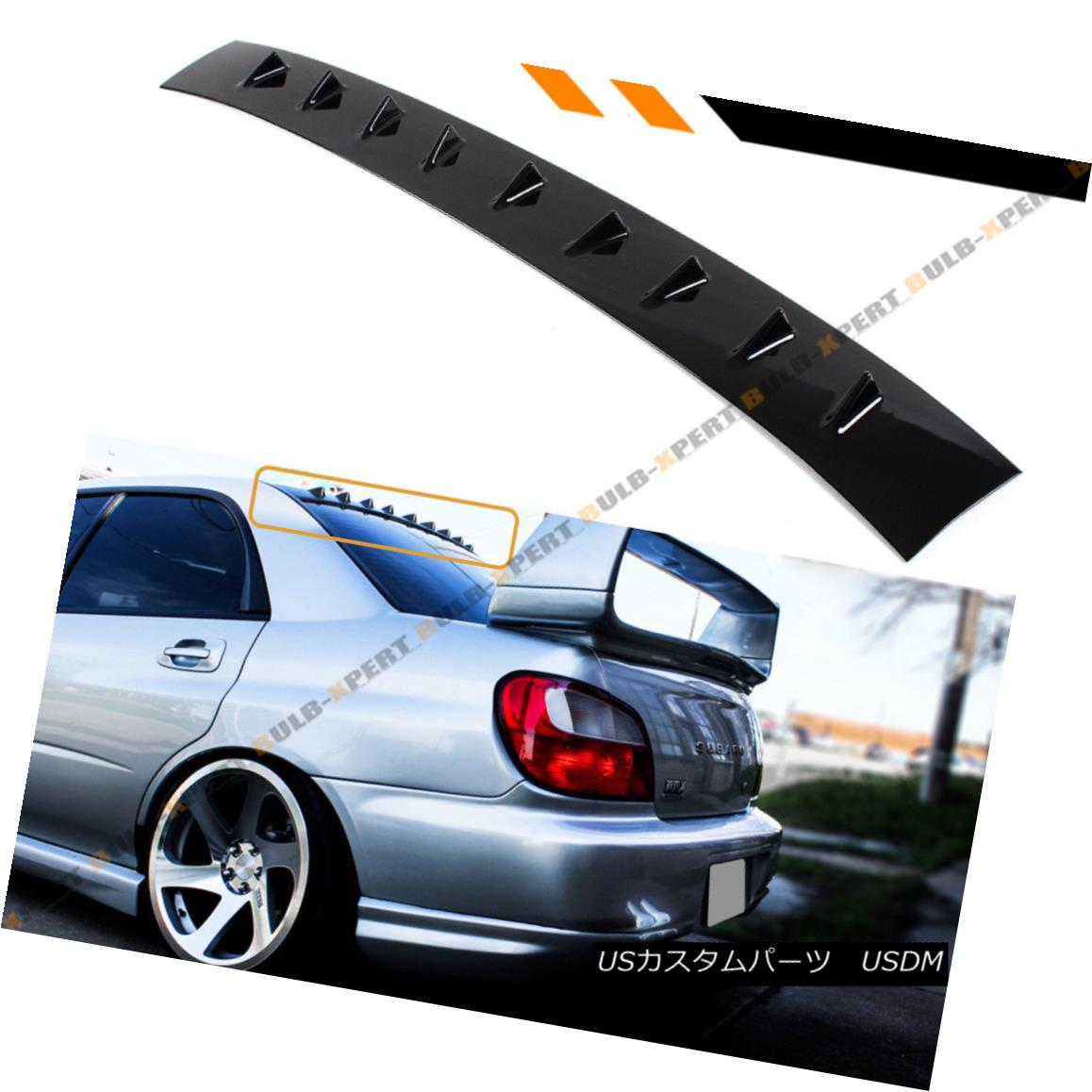 エアロパーツ FOR 02-07 IMPREZA WRX STI SHARK FIN GLOSS BLK REAR ROOF VORTEX GENERATOR SPOILER 02-07インプレッサWRX STI SHARK FIN GLOSS BLKリアルーフボルテックスジェネレータスポイラー