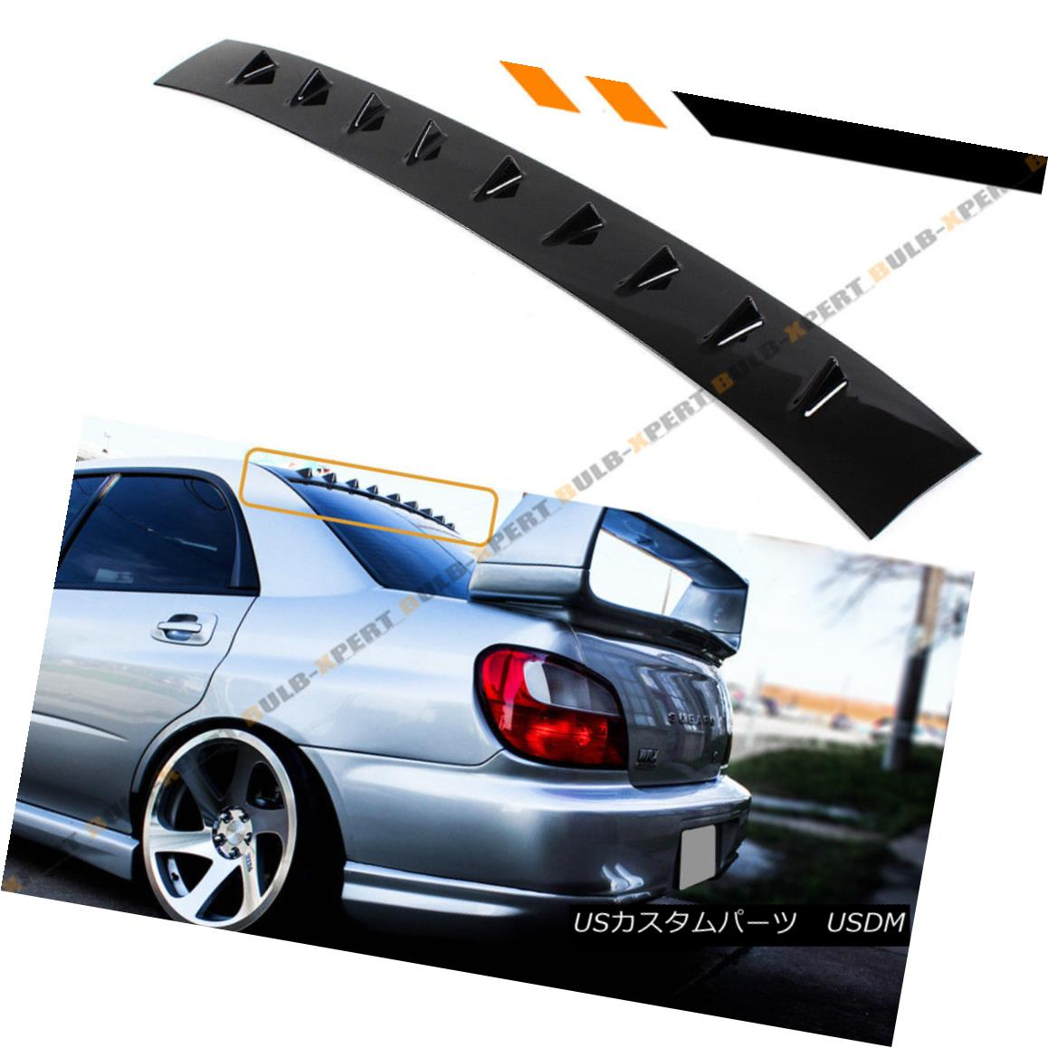 For Honda Civic 8TH FD1 FD2 4DR Carbon Style Shark Fin Rear Window Spoiler Wing
