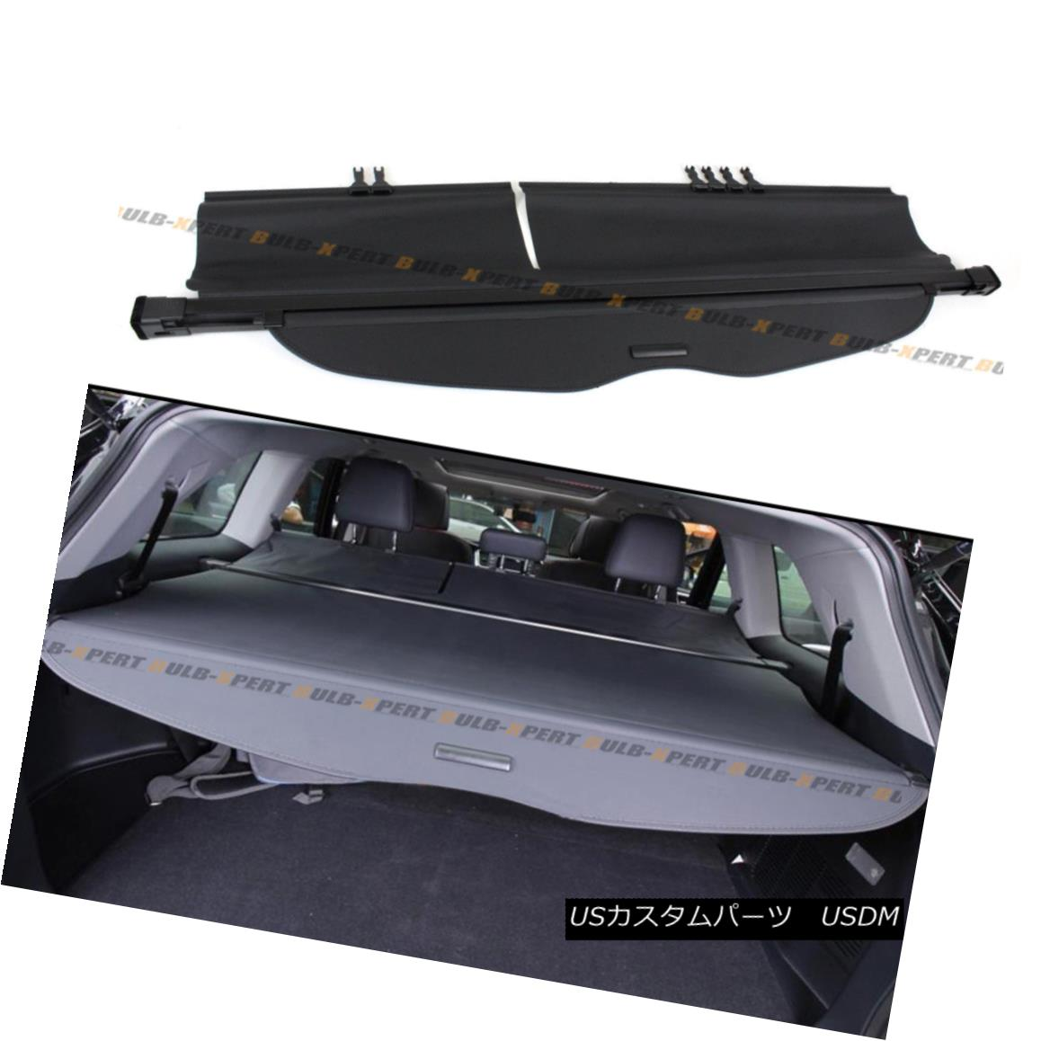 エアロパーツ For 2014-2017 Toyota Highlander OE Style Retractable Cargo Cover Luggage Shade 2014-2017 Toyota Highlander OEスタイルリトラクタブルカーゴカバー荷物シェード