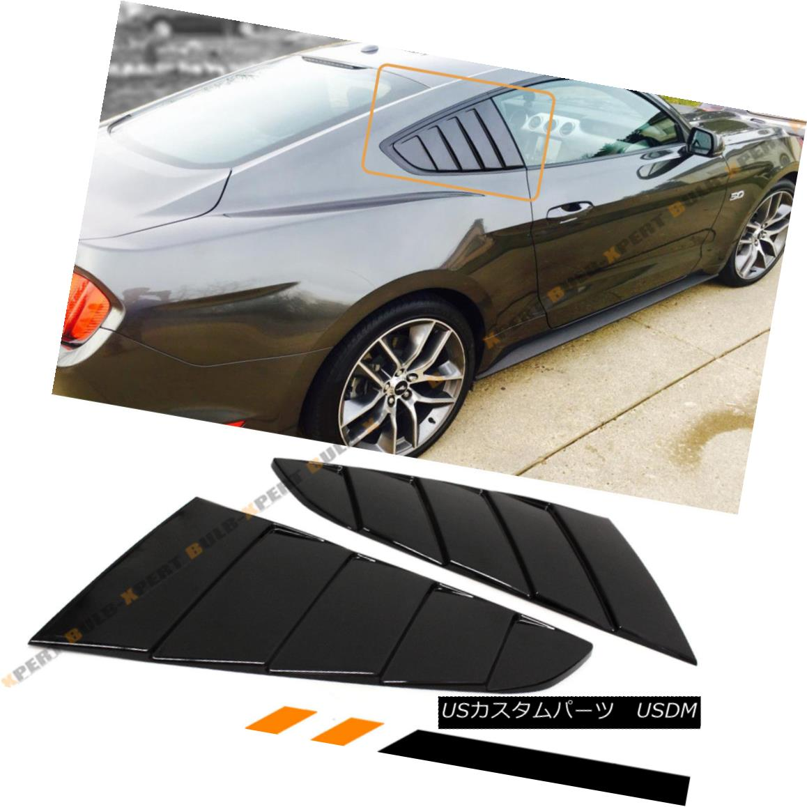 エアロパーツ For 2015-17 Ford Mustang Glossy Black Side Vent Window 1/4 Quarter Scoop Louver 2015-17 Ford Mustang Glossyブラックサイドベントウィンドウ1/4 Quarter Scoop Louver