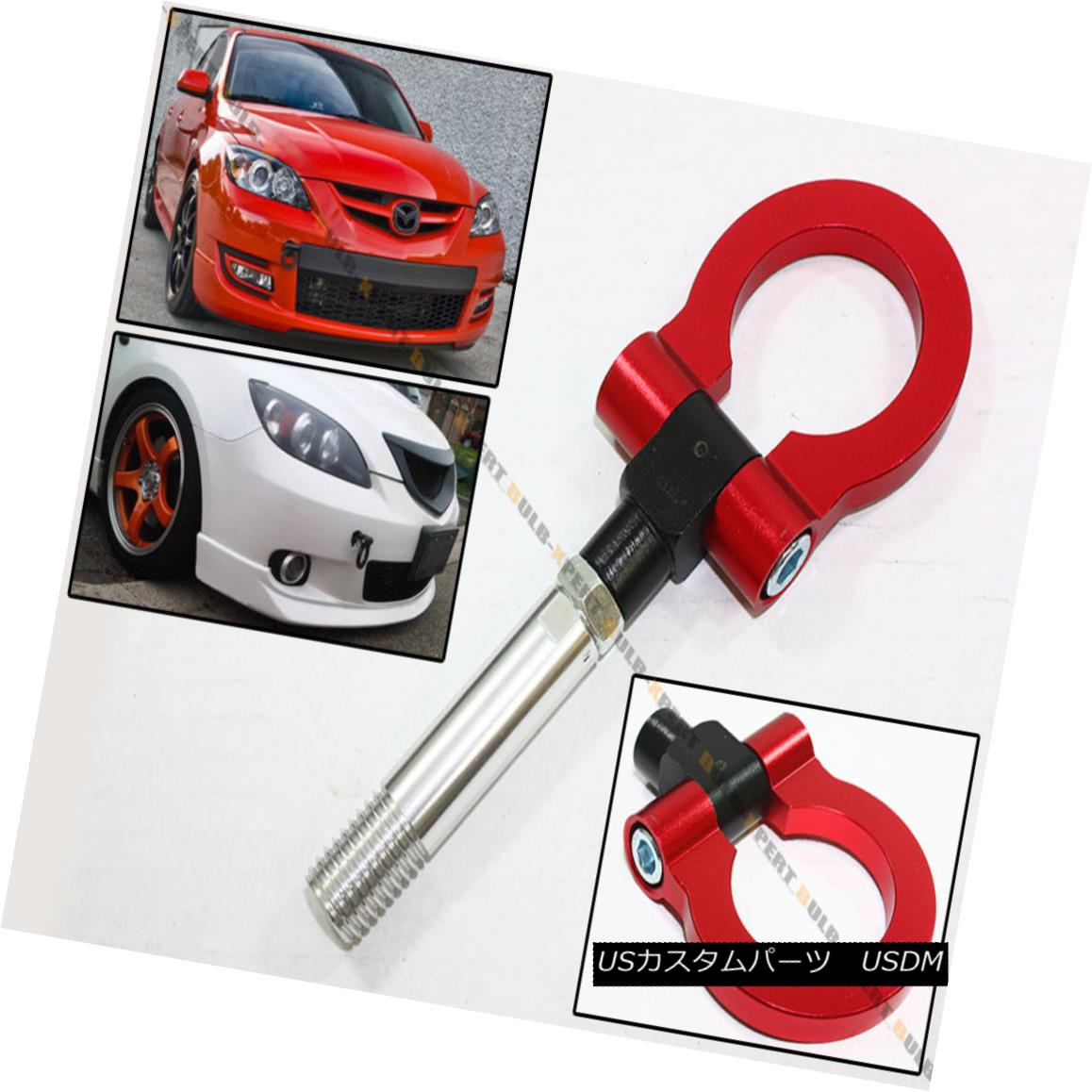 FITs For Mazda 2 5 6 CX5 RX8 Black Folding Screw On Type Front Rear Tow Hook