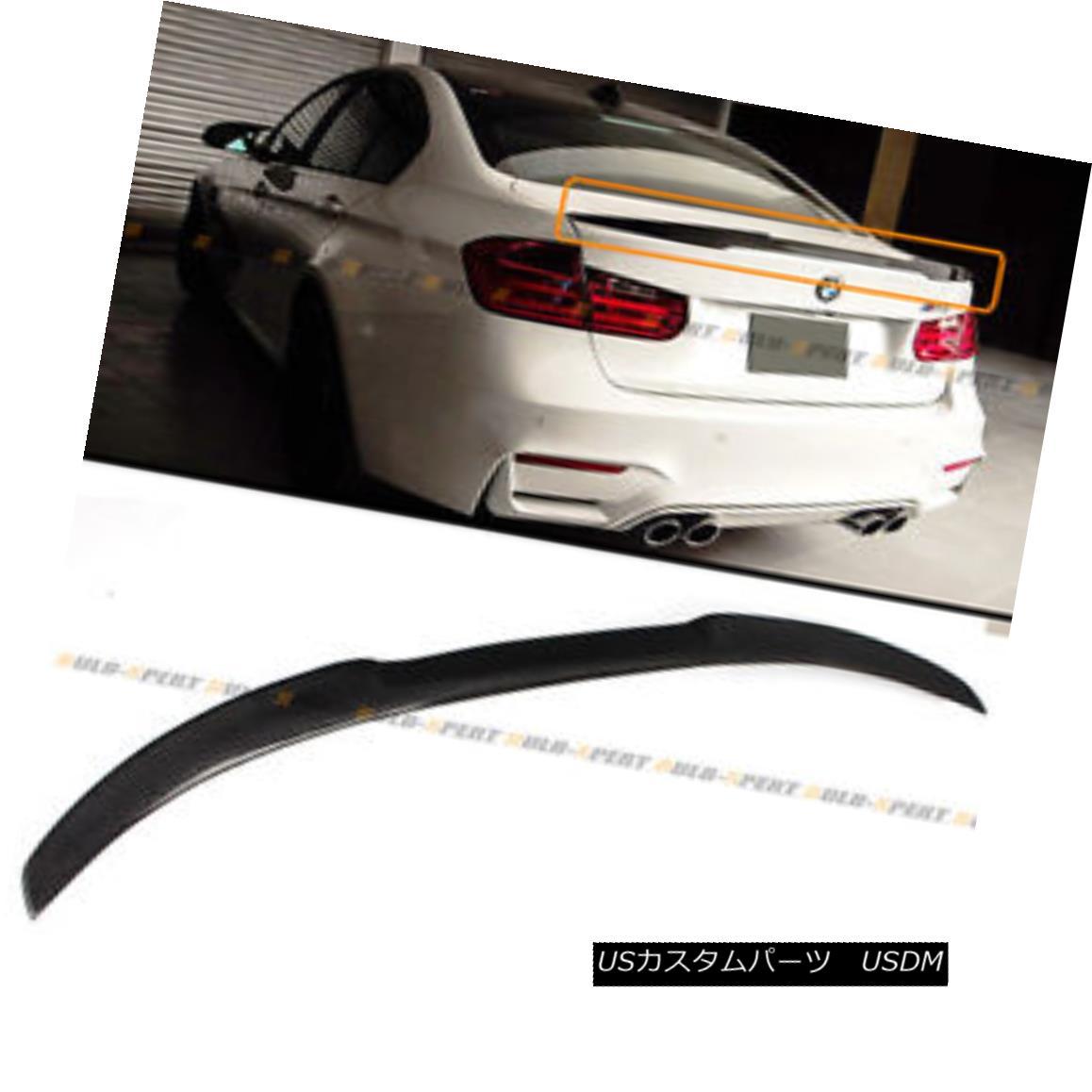 エアロパーツ For 2015-2018 BMW F80 M3 Carbon Fiber High Kick M4 Look Style Trunk Spoiler Wing 2015-2018 BMW F80 M3カーボンファイバーハイキックM4ルックスタイルトランク・スポイラーウィング