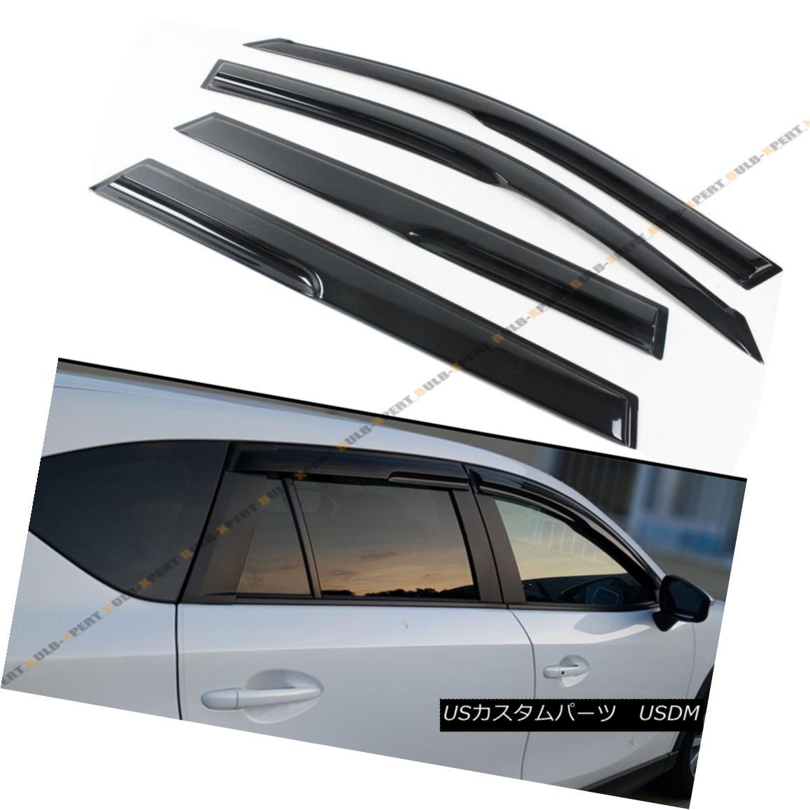 エアロパーツ FOR 2006-2012 TOYOTA RAV4 JDM WAVY 3D STYLE SMOKED WINDOW VISOR VENT SHADE GUARD 2006-2012トヨタRAV4 JDM WAVY 3Dスタイルスモーキーウインドーバイザー通風シェードガード