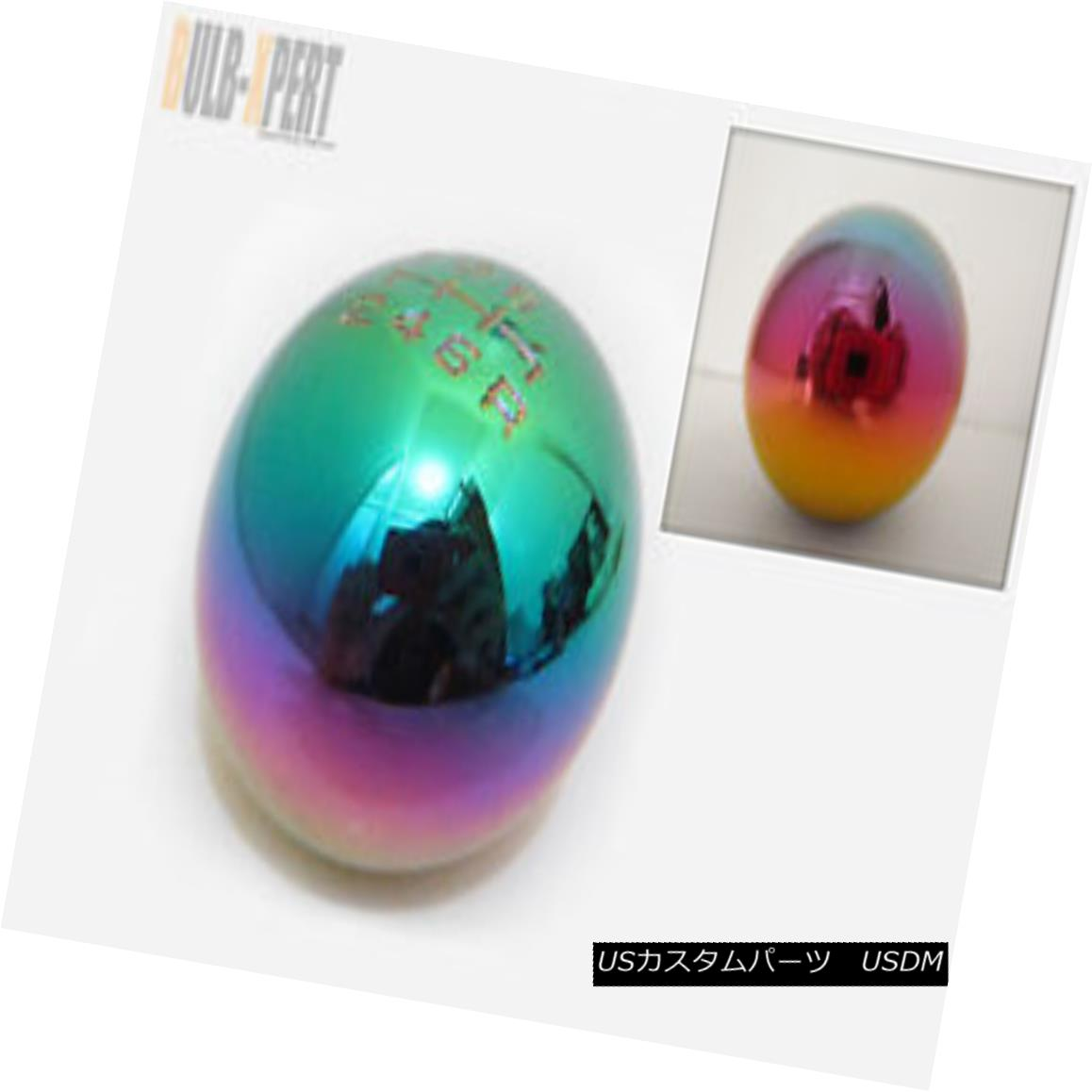 エアロパーツ FOR HONDA/ACURA 6 SPEED HEAVY NEO CHROME TRANSMISSION ROUND BALL SHIFT GEAR KNOB ホンダ/アキュラ6スピードヘビーネオクロームトランスミッションROUNDボールシフトギアノブ