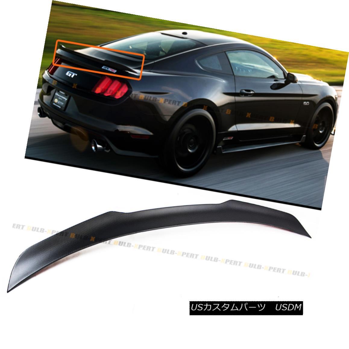 エアロパーツ For 2015-17 Ford Mustang GT H Style Carbon Fiber Trunk Spoiler Wing Matt Finish 2015-17フォードマスタングGT Hスタイルカーボンファイバートランクスポイラーウィングマットフィニッシュ