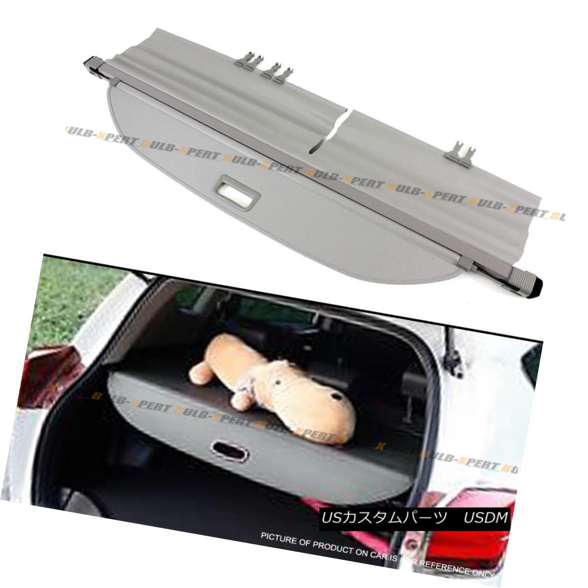 エアロパーツ For 2013-17 Toyota Rav4 Retractable Trunk Cargo Cover Luggage Shade Shield Grey トヨタRav4リトラクタブルトランクカーゴカバー荷物シェードシールドグレー