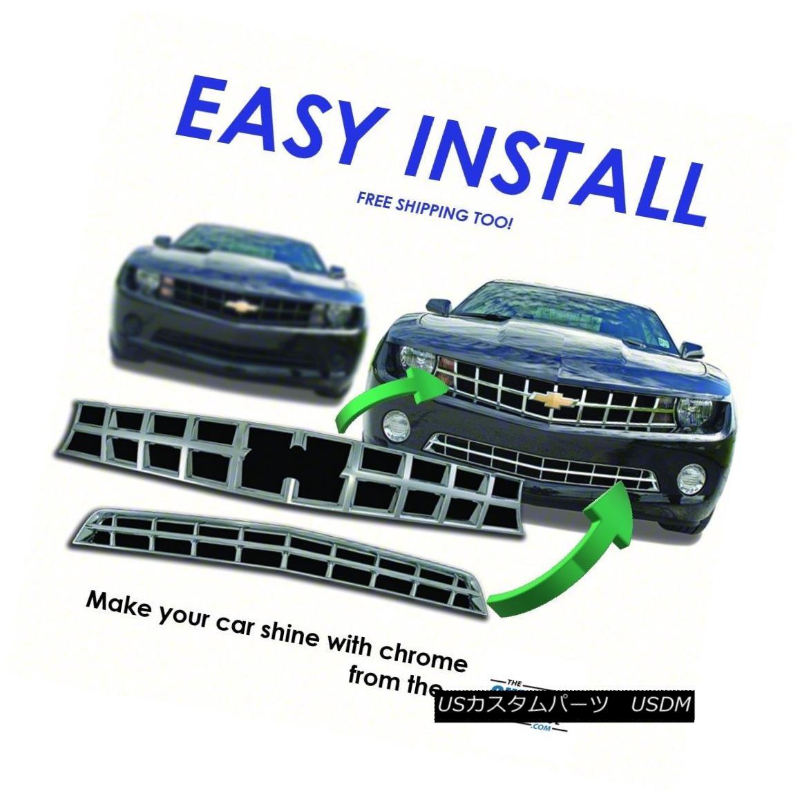 グリル IWCGI86 - Fits 10-13 Chevy Camaro-Chrome Grille Overlay IWCGI86 - 10-13のChevy Camaro-Chrome Grille Overlayに適合