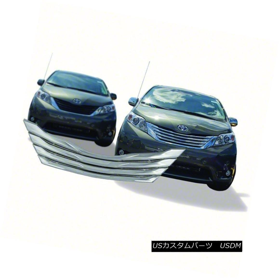 グリル 2011-2014 Toyota Sienna Chrome Grille Overlay IWCGI201 2011-2014トヨタシエナクロームグリルオーバーレイIWCGI201