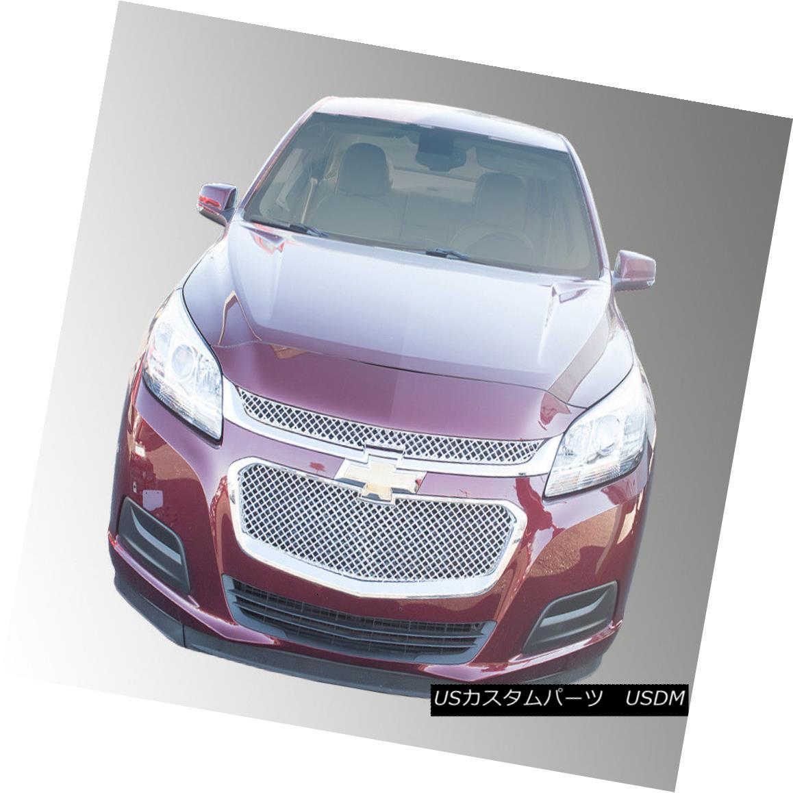 グリル ABS452 SES Trims - 2-Pc Chrome Mesh Main Grille fits 14-15 Chevy Malibu ABS452 SESトリム - 2-Pcクロムメッシュメイングリル14-15シェビーマリブに適合