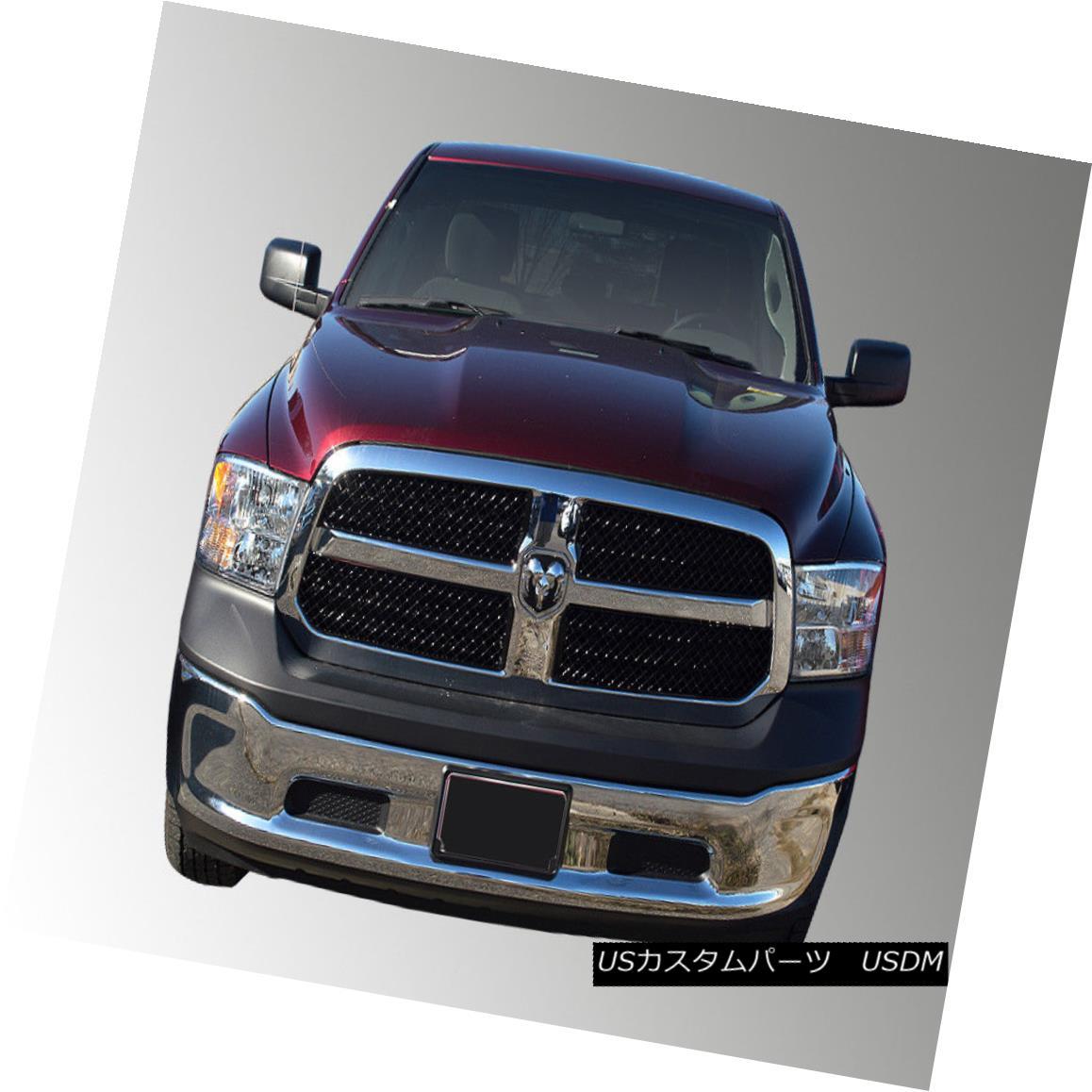 グリル ABS6429B SES Trims - 4-Pc Gloss Black Mesh Main Grille fits 13-18 Ram ABS6429B SESトリム - 4-Pcグロスブラックメッシュメイングリルは13-18ラムに適合