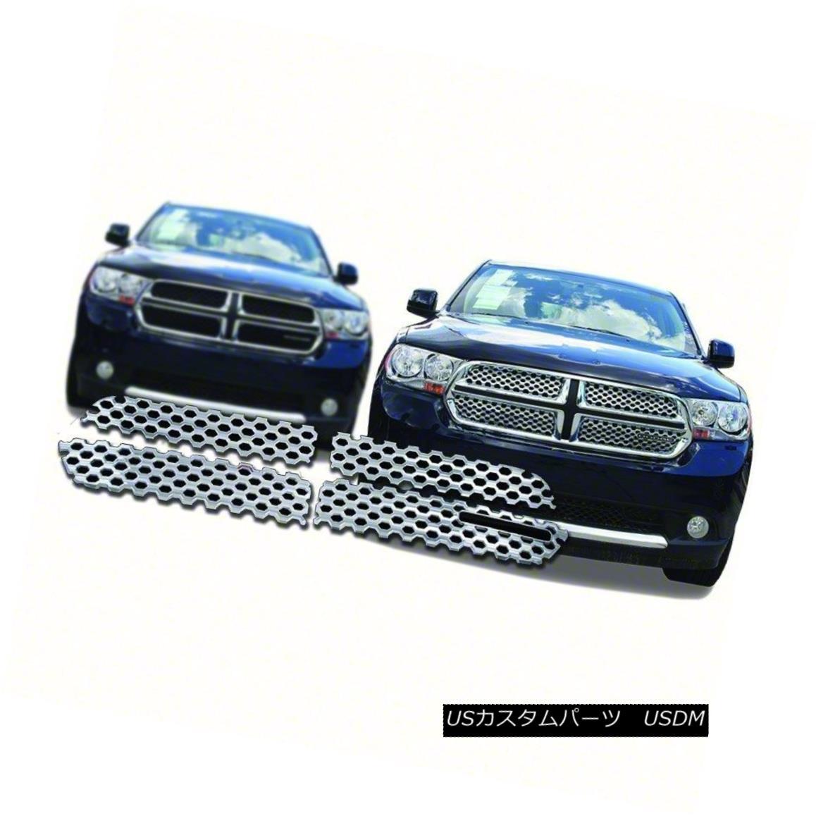 グリル IWCGI94-Fits 2011-13 Dodge Durango-4pc Chrome Grille Overlay IWCGI94-Fits 2011-13 Dodge Durango-4pcクロームグリルオーバーレイ