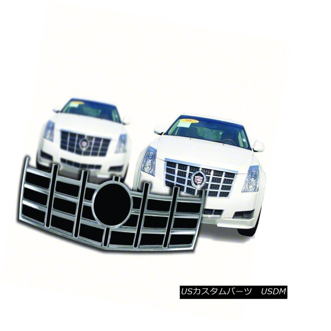 グリル Fits 2012-13 Cadillac CTS Chrome Grille Overlay-IWCGI111 フィット2012-13キャデラックCTSクロームグリルオーバーレイ-IWCGI1 11