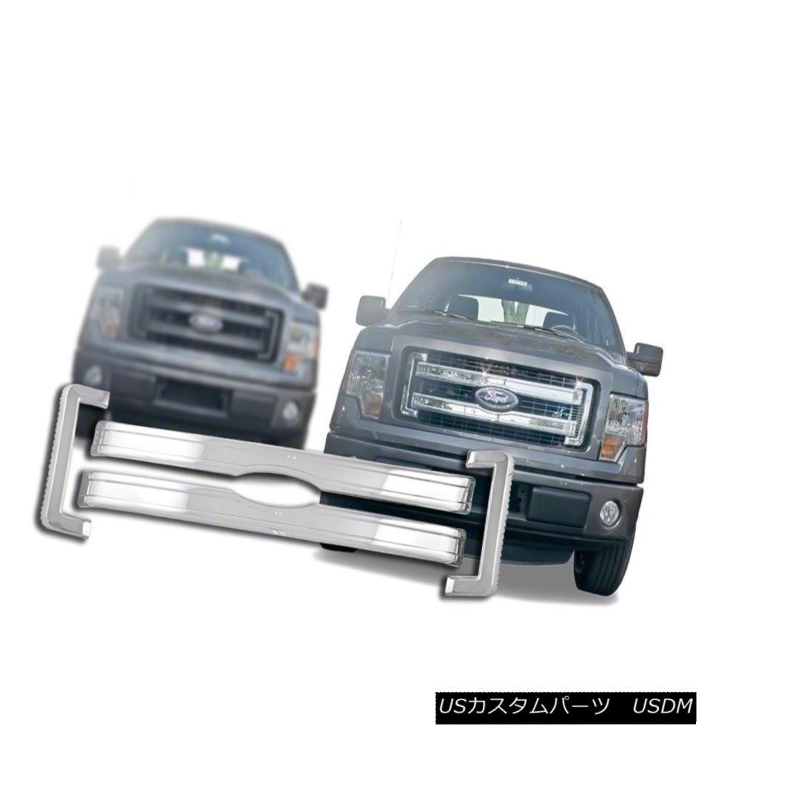 グリル Fits 2013-14 Ford F150-Chrome Grille Overlay-IWCGI113 2013-14 Ford F150-Chromeグリルオーバーレイ-IWCGI1 13