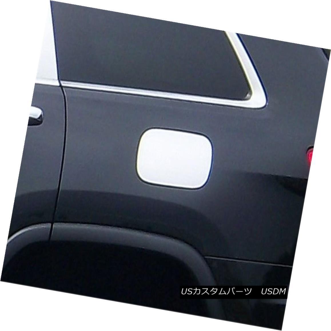 グリル Fits 2011-2016 JEEP GRAND CHEROKEE 4-door, SUV -Stainless Steel GAS CAP DOOR 2011年から2016年のJEEP GRAND CHEROKEE 4ドアSUV - ステンレススチール製GAS CAP DOOR