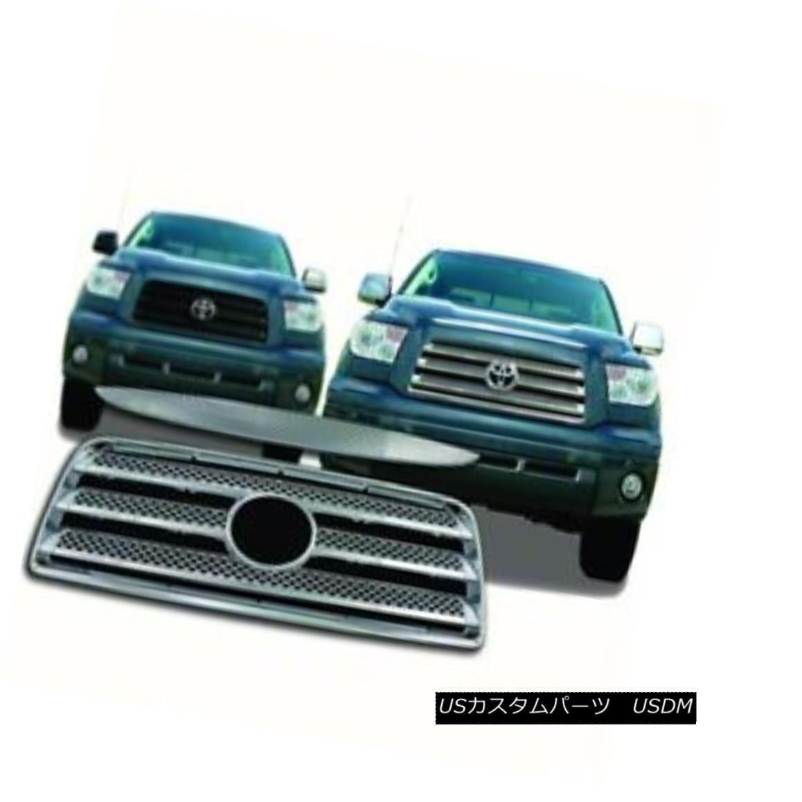 グリル Fits 07-09 Toyota Tundra Chrome Grille Overlay IWCGI31 フィット07-09トヨタトンドラクロームグリルオーバーレイIWCGI31