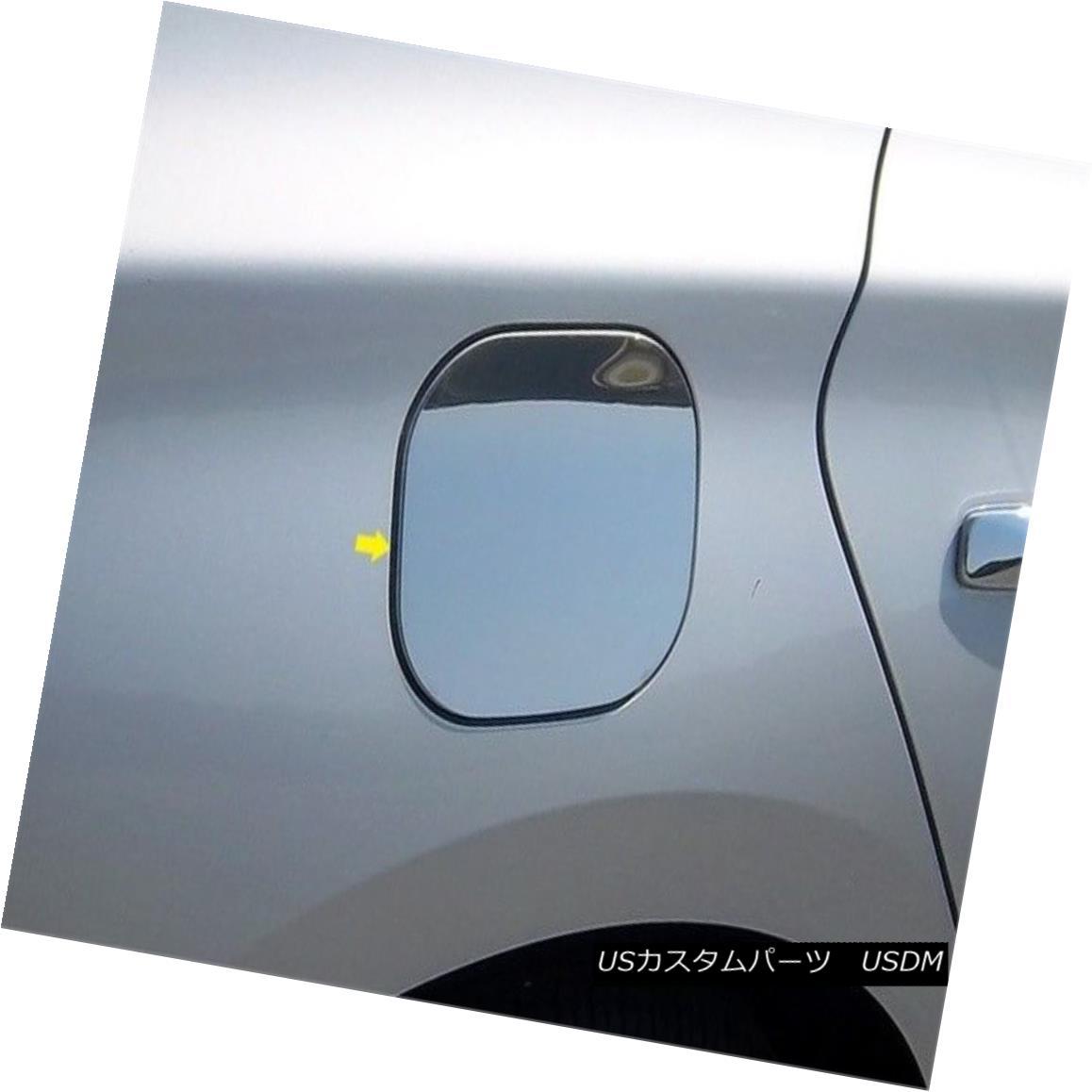 グリル Fits 2013-2015 NISSAN SENTRA 4-door -Stainless Steel GAS CAP DOOR 2013-2015 NISSAN SENTRA 4ドア - ステンレススチールガスCAP DOOR