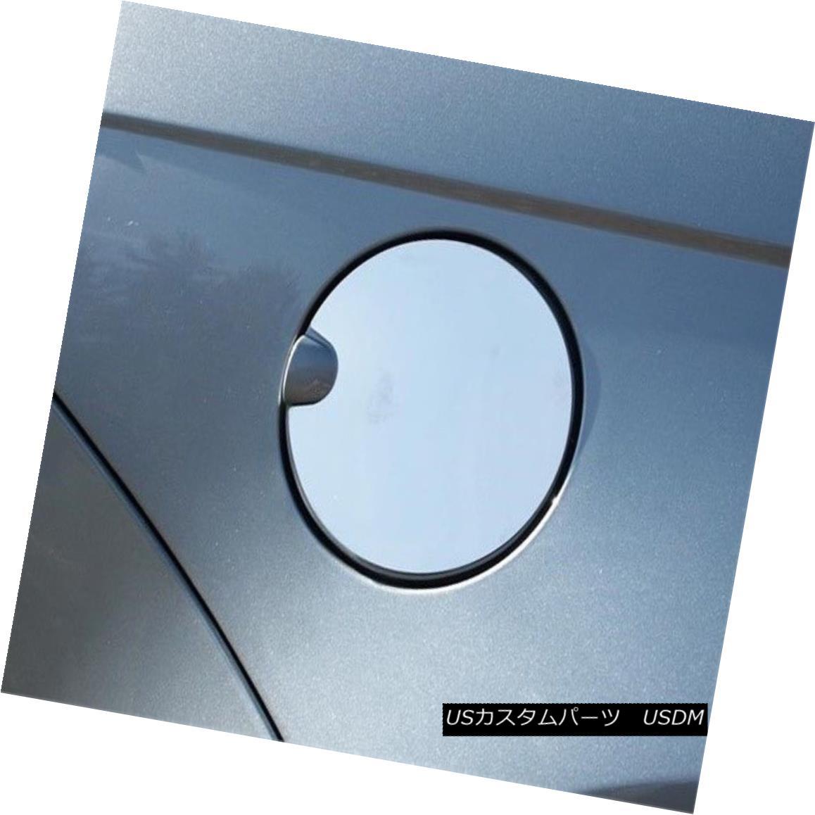 グリル Fits 2008-2009 FORD FOCUS 4-door -Stainless Steel GAS CAP DOOR フィット2008-2009フォードフォーカス4ドア - ステンレススチールガスCAP DOOR