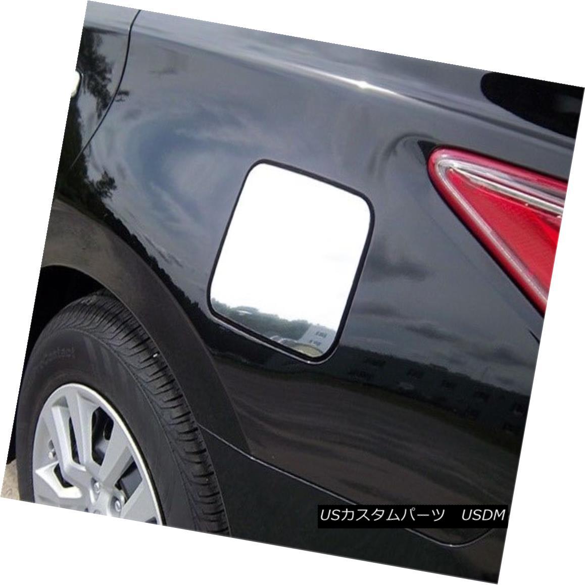 グリル Fits 2013-2015 NISSAN ALTIMA 4-door -Stainless Steel GAS CAP DOOR フィット2013-2015日産アルティマ4ドア - ステンレススチールガスCAP DOOR