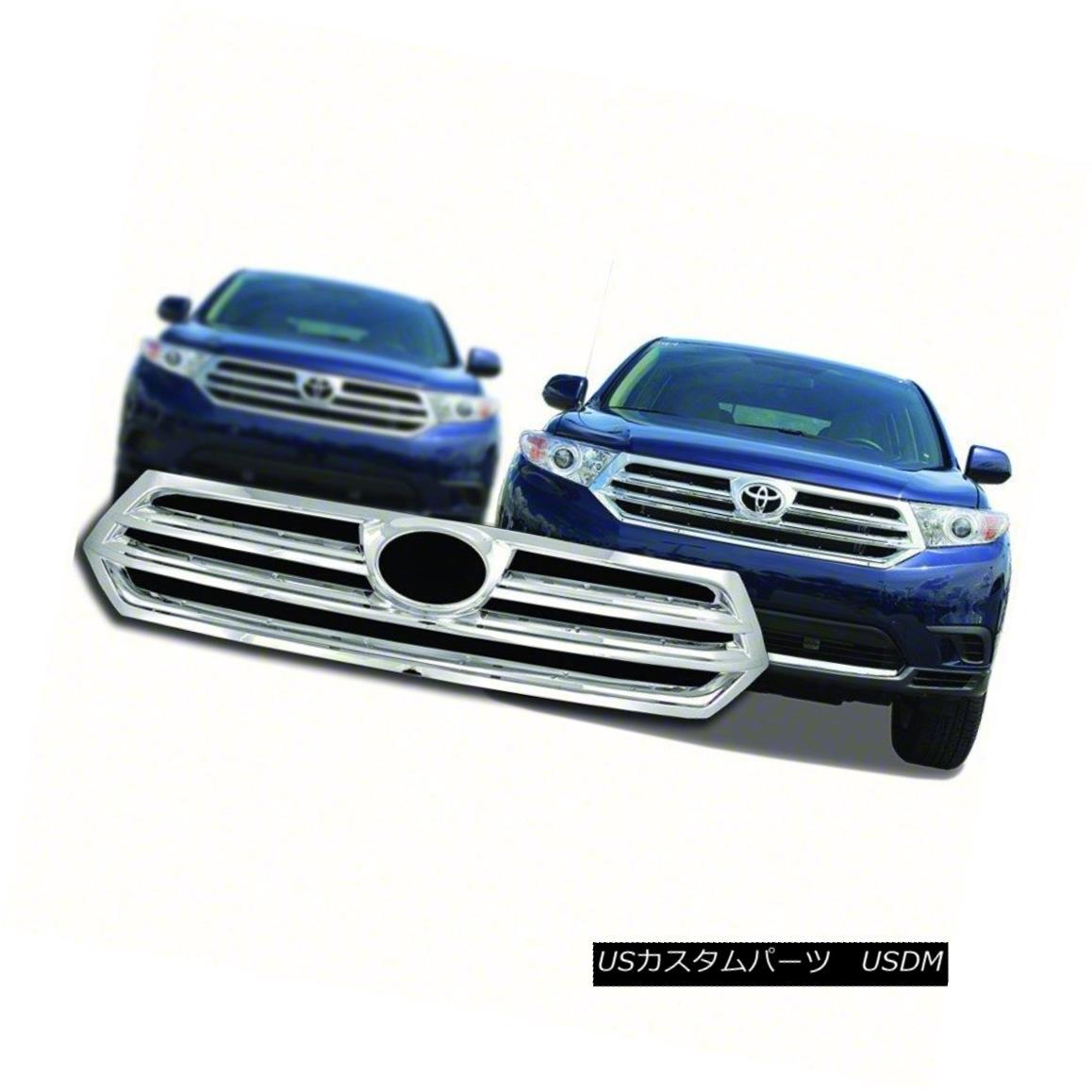 グリル IWCGI98-Fits 2011-13 Toyota Highlander-Chrome Grille Overlay IWCGI98-Fits 2011-13 Toyota Highlander-Chr omeグリルオーバーレイ