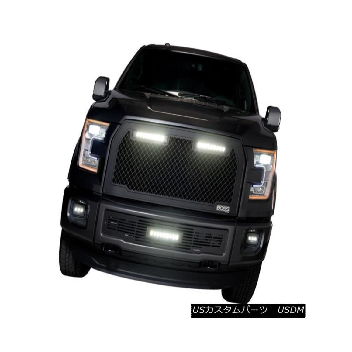 グリル PUTCO 270545BL - Lighted Boss Grilles for 15-17 Ford F150 - Lighted w/two 10
