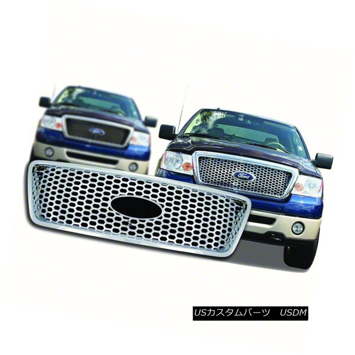 グリル Fits 2004-08 Ford F150-Chrome Grille Overlay-IWCGI88 フィット2004-08 Ford F150-Chromeグリルオーバーレイ-IWCGI8 8