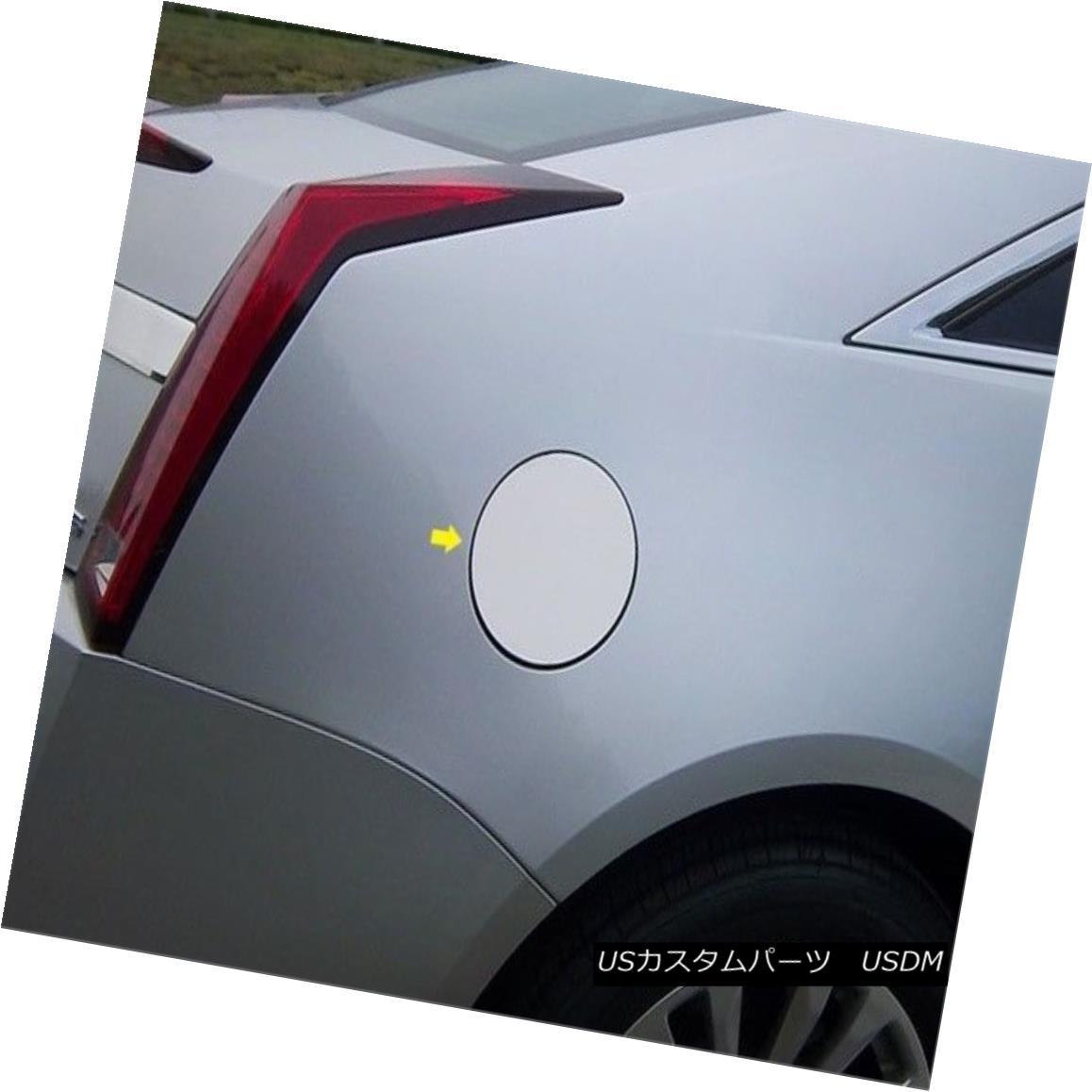 グリル Fits 2010-2013 CADILLAC CTS 2-door -Stainless Steel GAS CAP DOOR フィット2010-2013 CADILLAC CTS 2ドア - ステンレススチールガスCAP DOOR