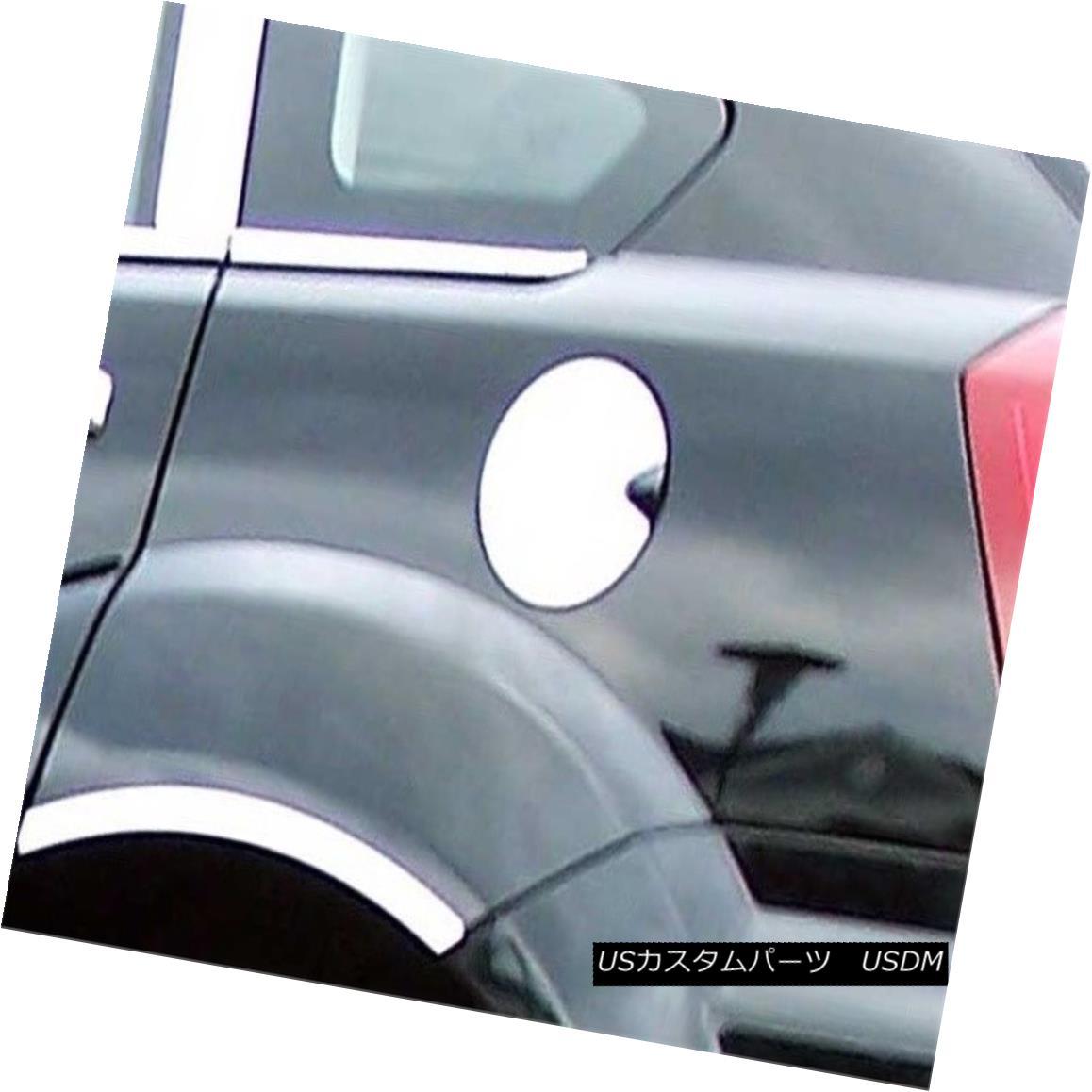 グリル Fits 2007-2012 DODGE CALIBER 4-door -Stainless Steel GAS CAP DOOR フィット2007-2012ドッジキャリバー4ドア - ステンレススチールガスCAPドア