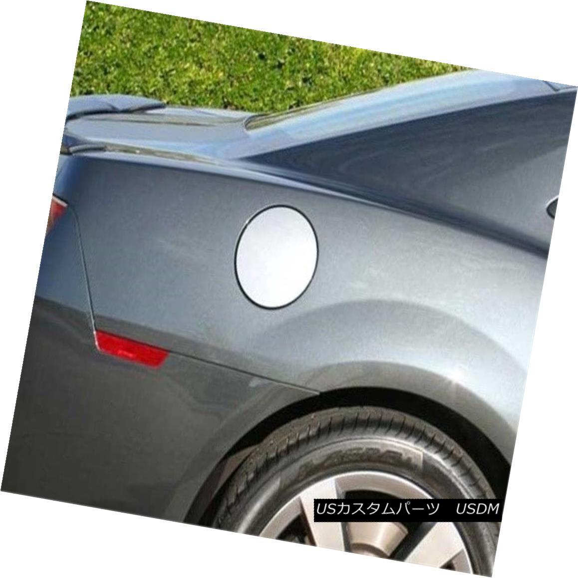 グリル Fits 2010-2015 CHEVROLET CAMARO 2-door -Stainless Steel GAS CAP DOOR フィット2010-2015シボレーCAMARO 2ドア - ステンレススチールガスCAP DOOR
