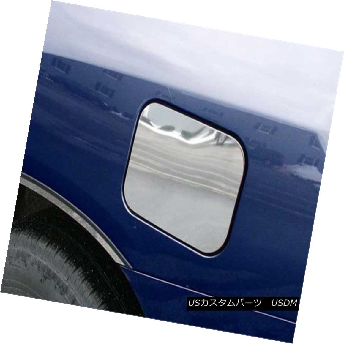 グリル Fits 2001-2007 TOYOTA HIGHLANDER 4-door, SUV -Stainless Steel GAS CAP DOOR 2001?2007年のTOYOTA HIGHLANDER 4ドア、SUVに対応 - ステンレススチールGAS CAP DOOR