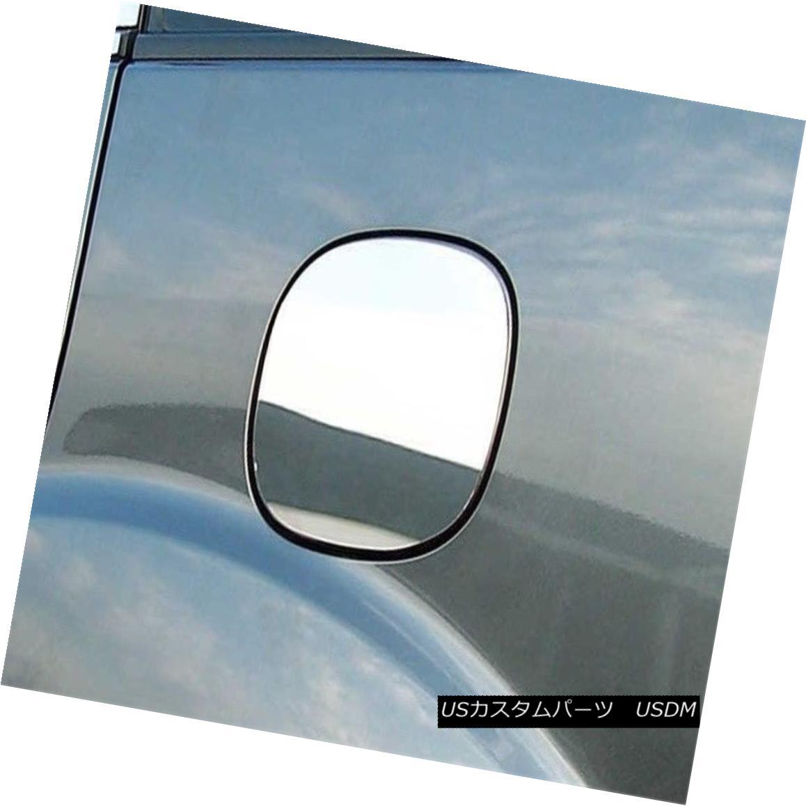 グリル Fits 2007-2009 MITSUBISHI OUTLANDER 4-door, SUV -Stainless Steel GAS CAP DOOR 2007?2009年に適合三菱アウトランダー4ドア、SUV - ステンレススチールガスCAP DOOR