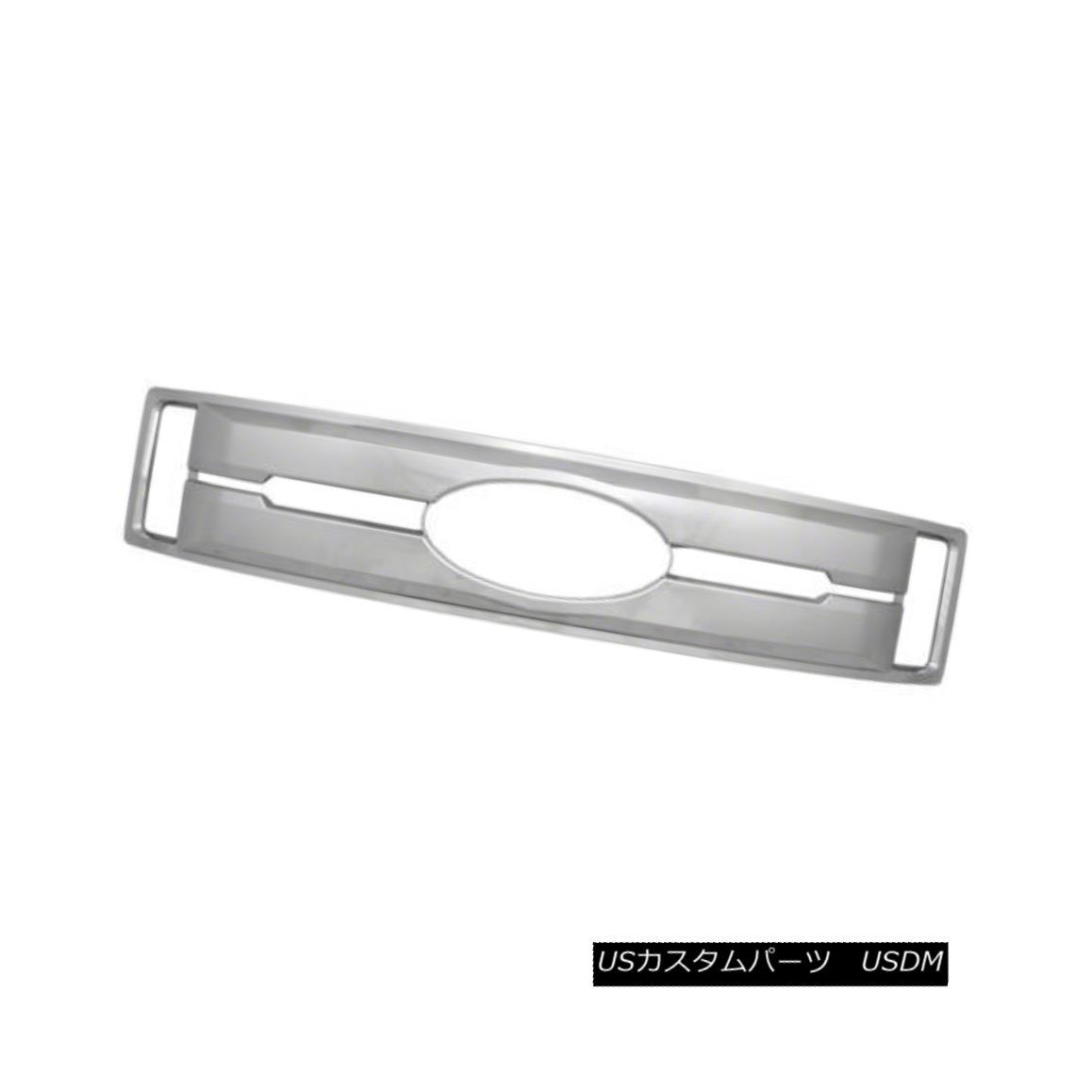 グリル Grille Overlay/Insert for 17-18 Ford F350 Chrome, 1 Piece 17-18 Ford F350クローム、1ピース用グリルオーバーレイ/インサート