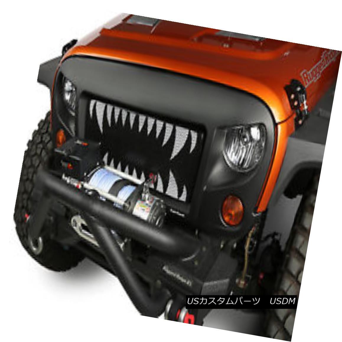 Grille Jeep 07-18 スパルタングリルキット、ランドサメ; Spartan Wrangler Land 07-18ジープラングラーJK Kit, JK グリル Shark;