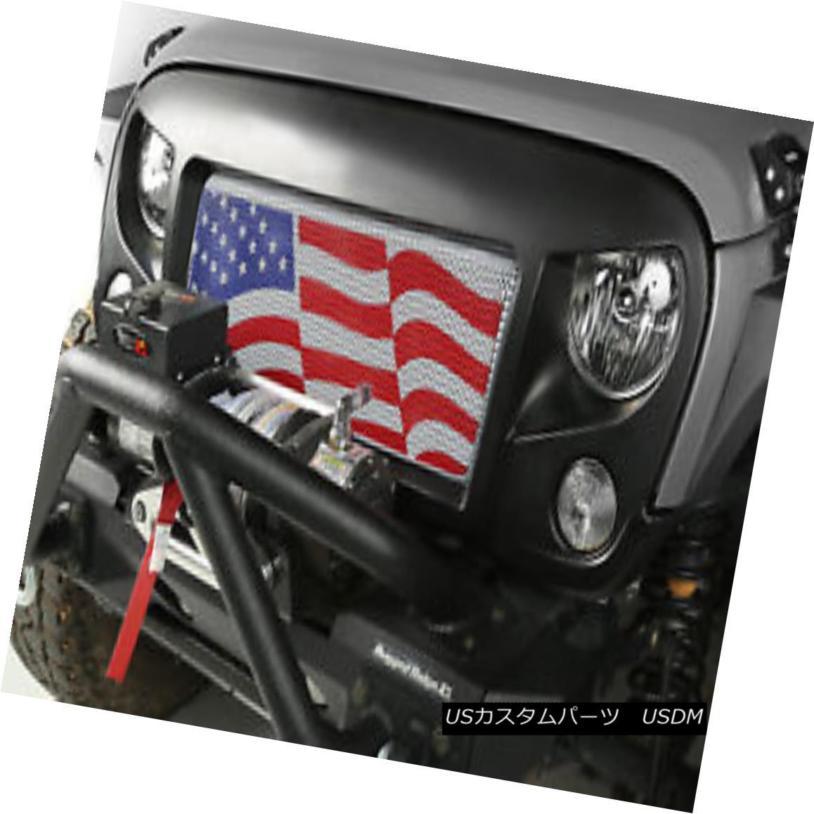 Kit, JK Jeep スパルタングリルキット、アメリカンフラッグ; Grille Spartan American 07-18ジープラングラーJK 07-18 Flag; Wrangler グリル