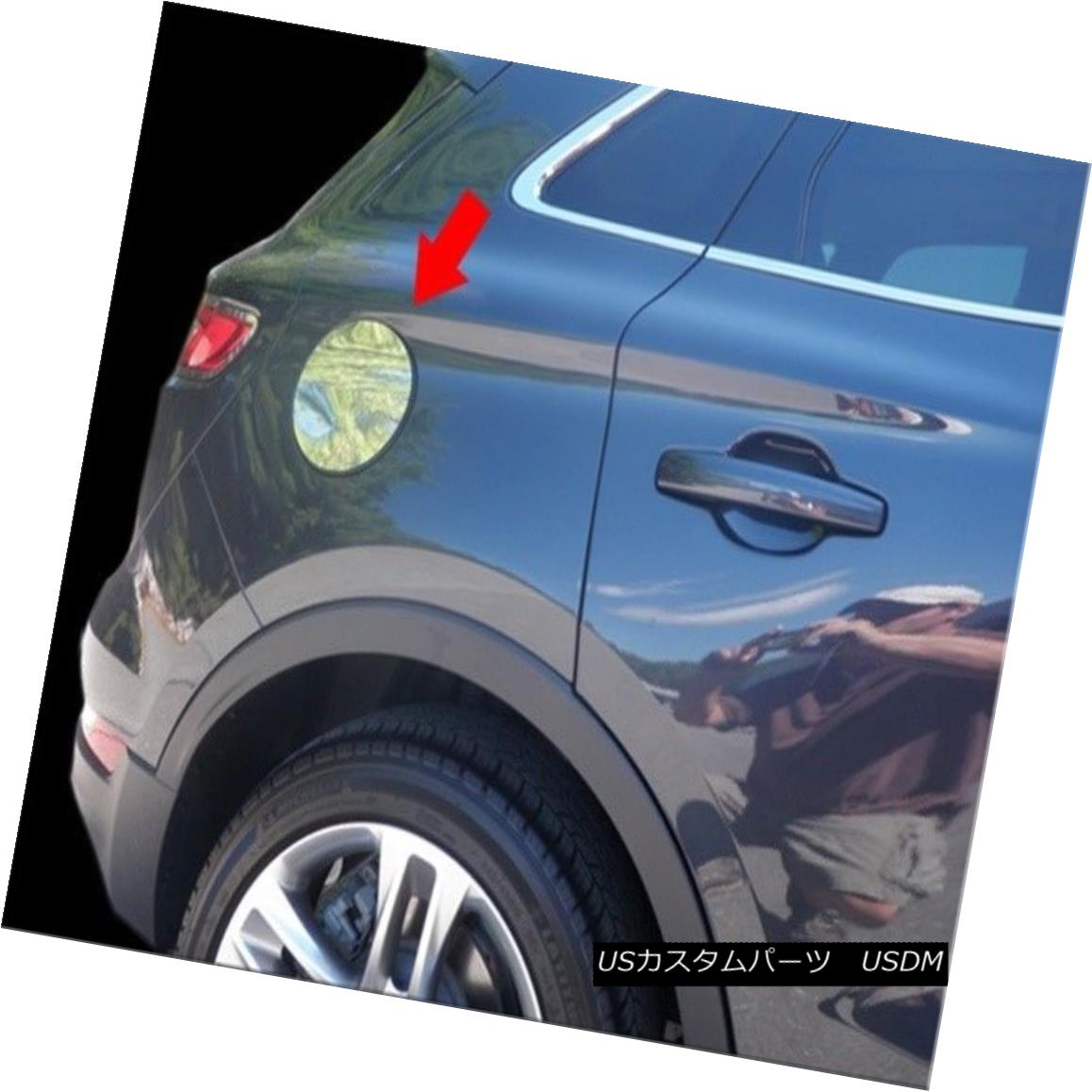 グリル Fits 2015-2017 LINCOLN MKC 4-door, SUV -Stainless Steel GAS CAP DOOR 適合2015-2017 LINCOLN MKC 4ドア、SUV - ステンレススチールGAS CAP DOOR