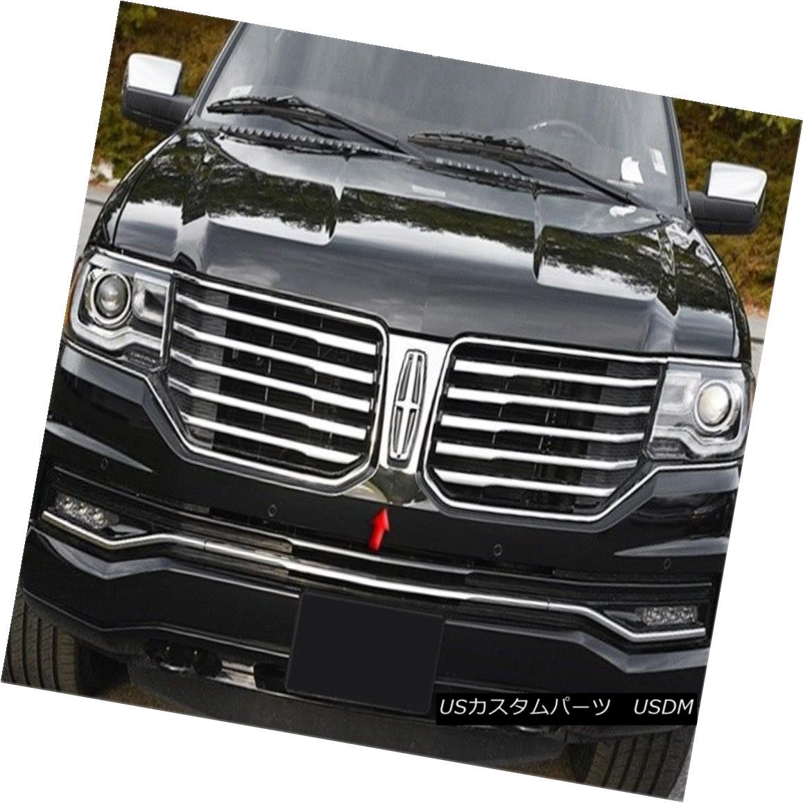 グリル Fits 2015-2016 LINCOLN NAVIGATOR 4-door (Logo Surround)-Stainless Steel GRILLE フィット2015-2016 LINCOLN NAVIGATOR 4ドア(ロゴサラウンド)-Stai nless Steel GRILLE