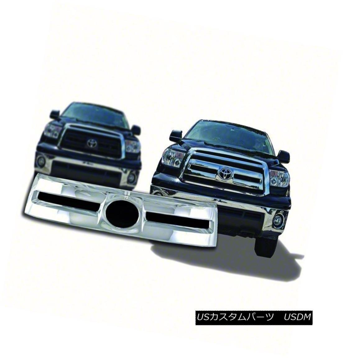 グリル Fits 2010-13 Toyota Tundra-Chrome Grille Overlay-IWCGI79 フィット2010-13トヨタトンドラクロムグリルオーバーレイ-IWCGI7 9
